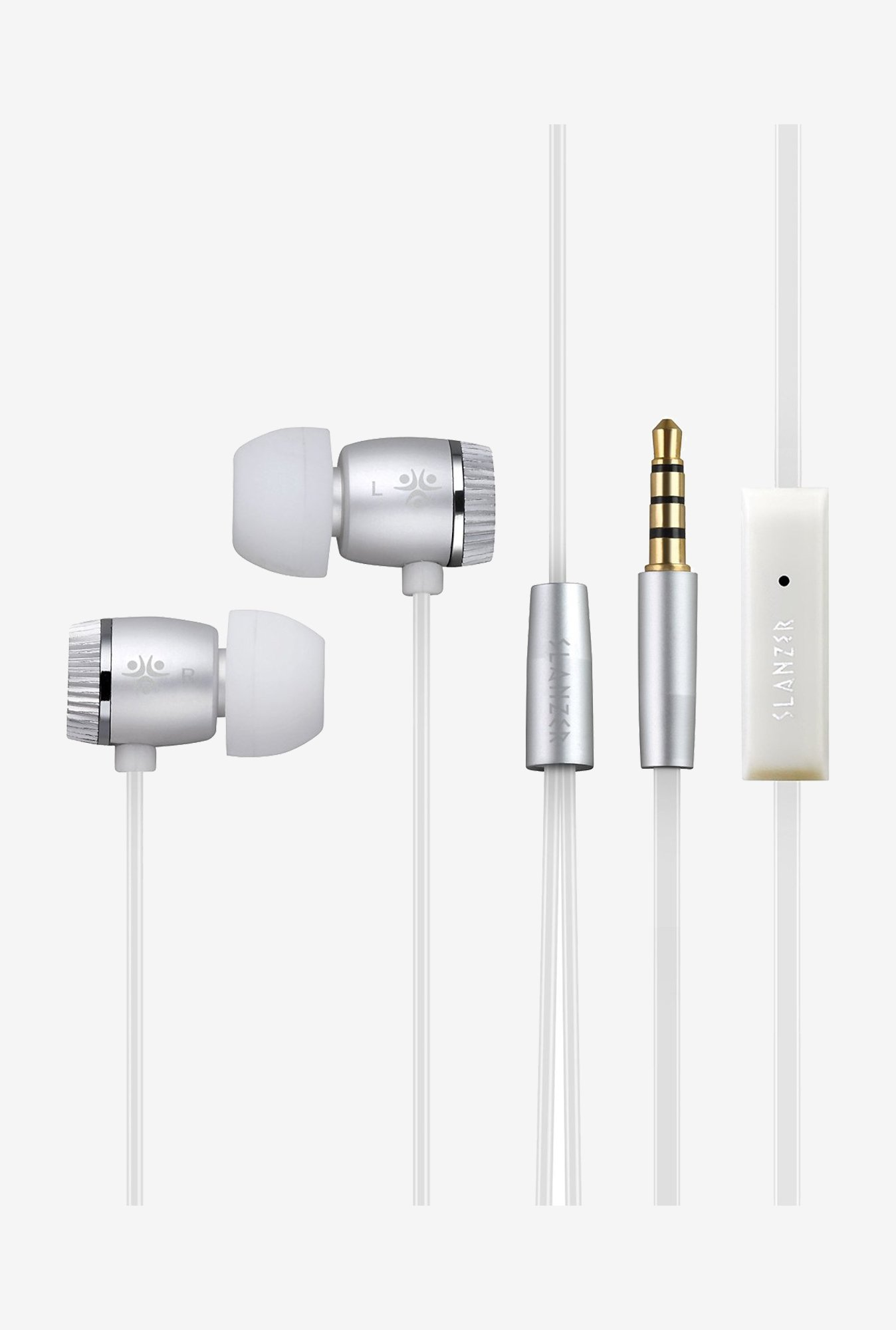 Slanzer SZEN206 In the Ear Headphone (Silver)