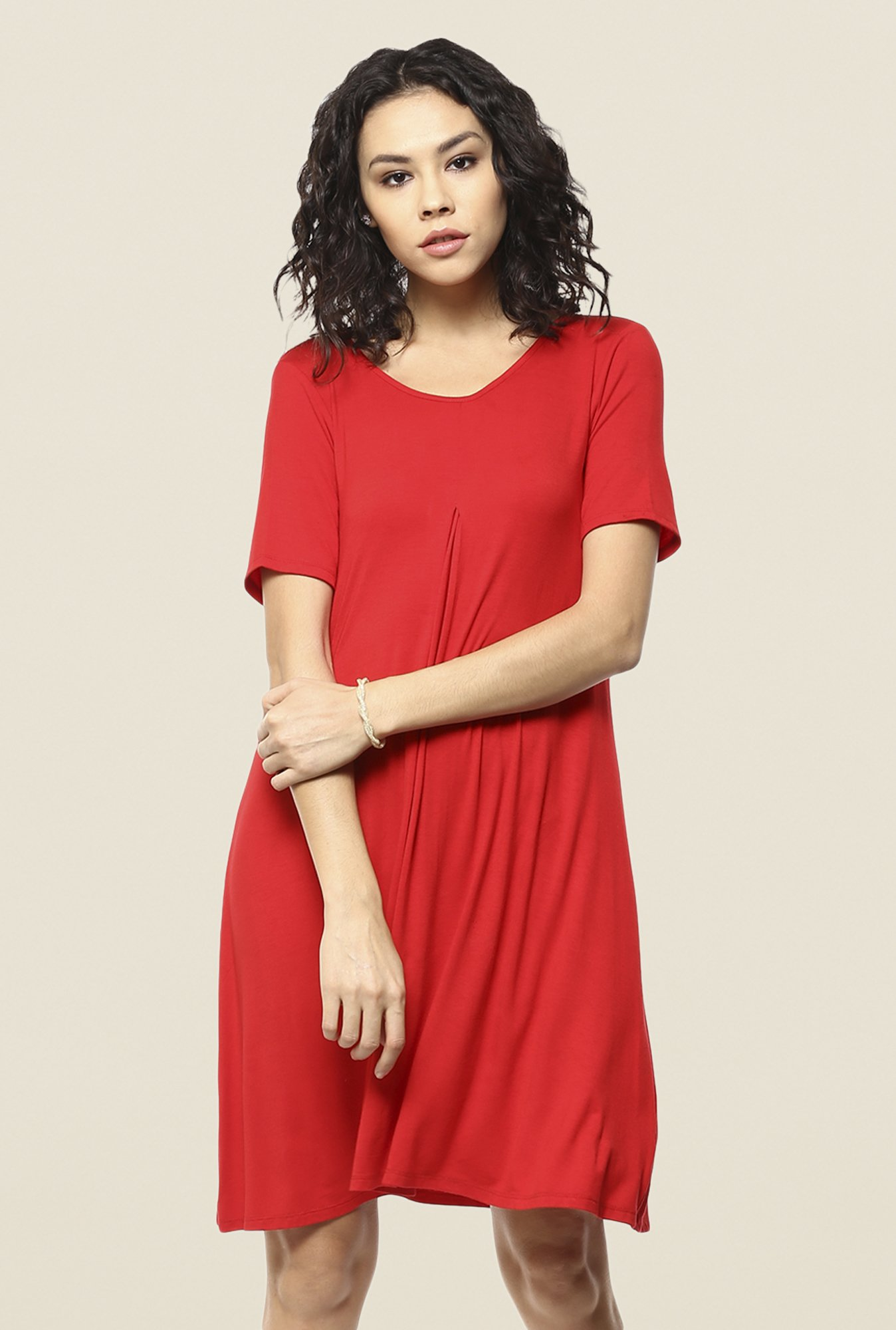 Femella Red Shift Dress