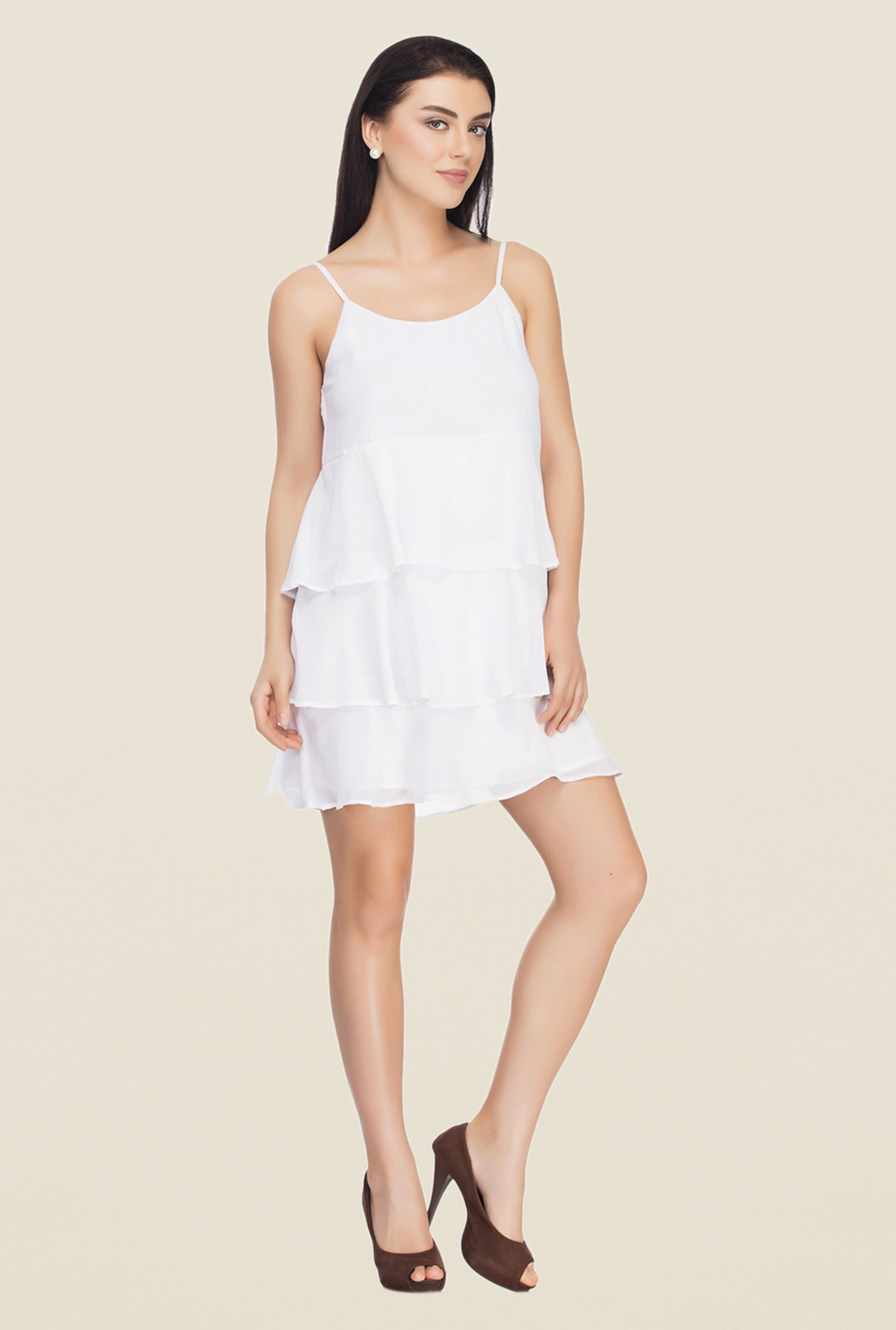Femella White Shift Dress