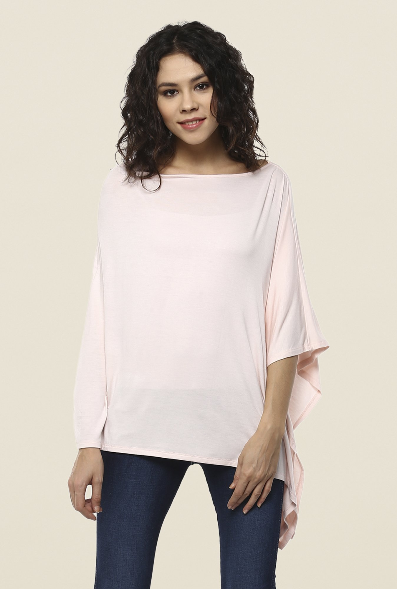 Femella Light pink Solid Top