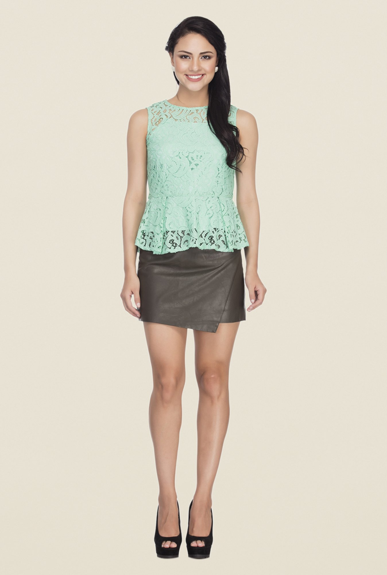 Femella Green Lace Top