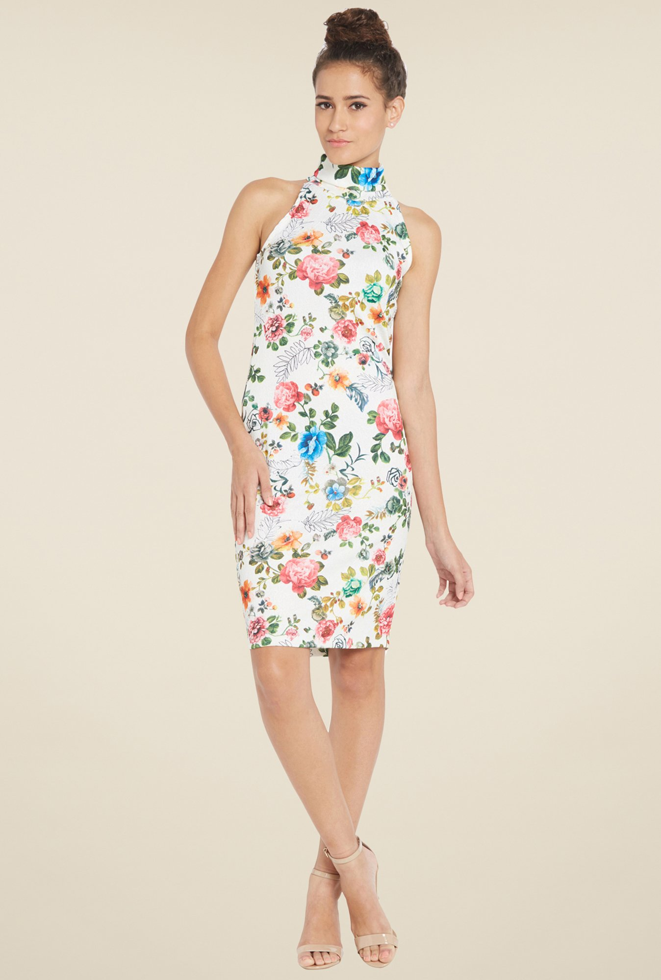 Globus White Floral Dress