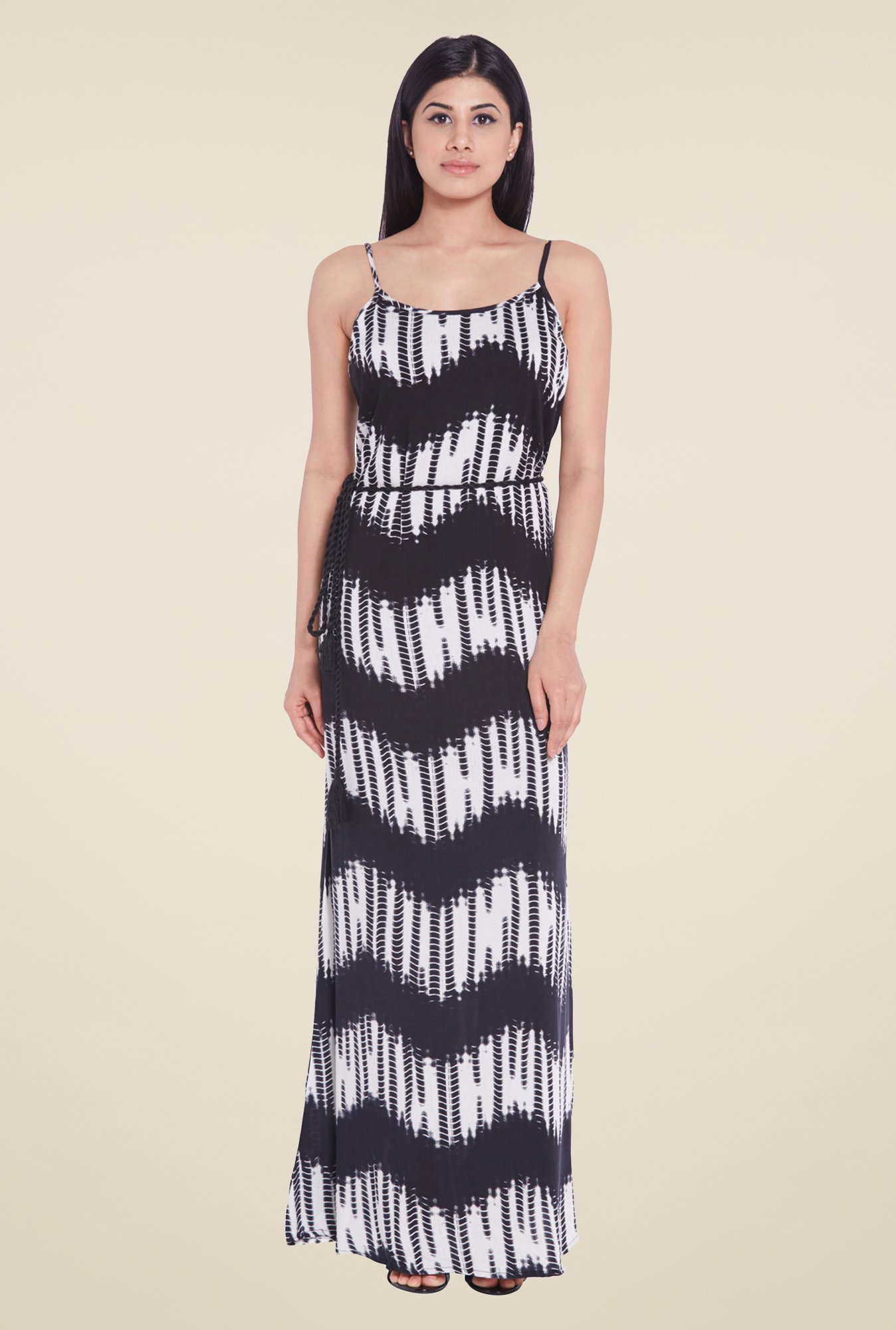 Globus Black Printed Maxi Dress