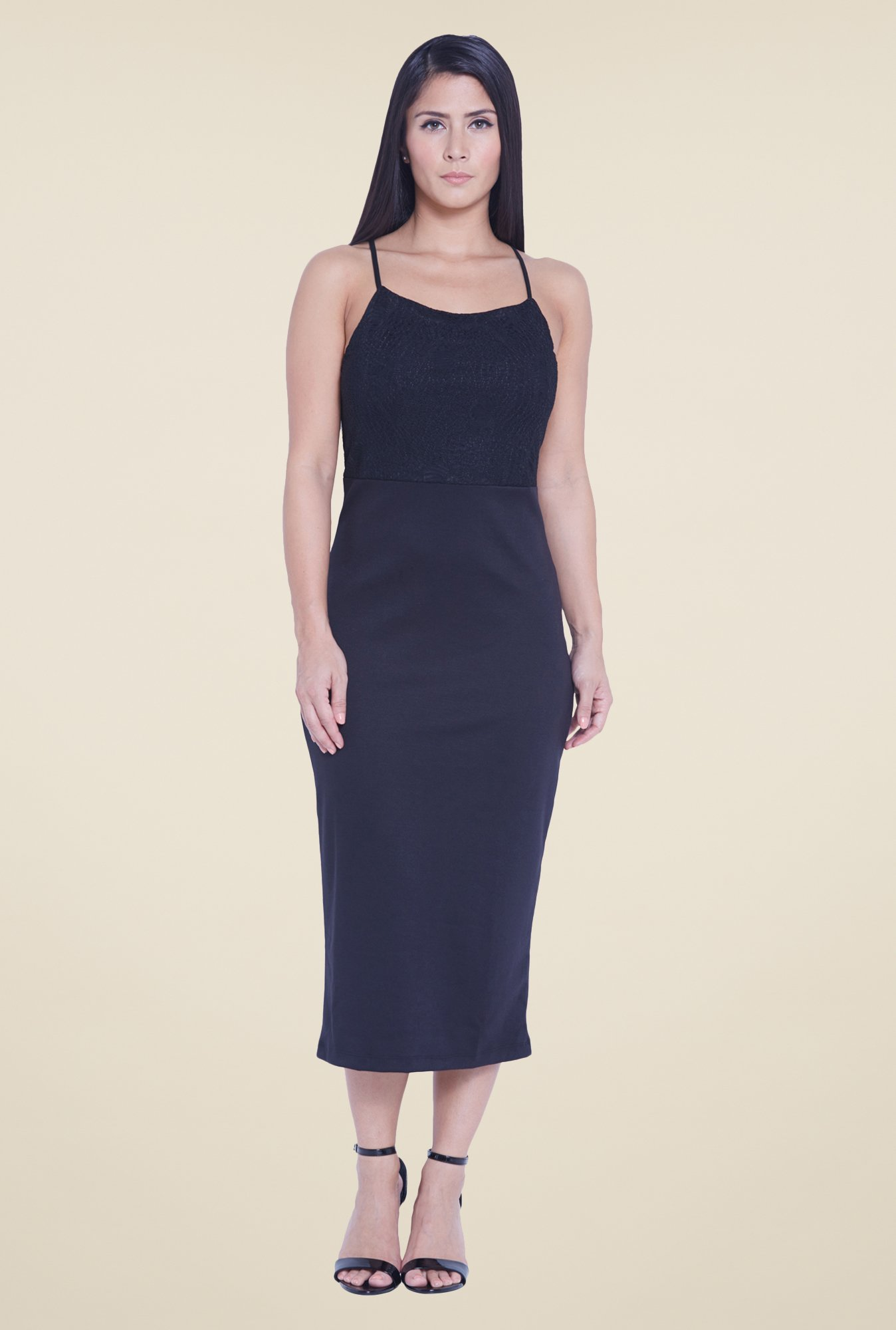 Globus Black Midi Dress