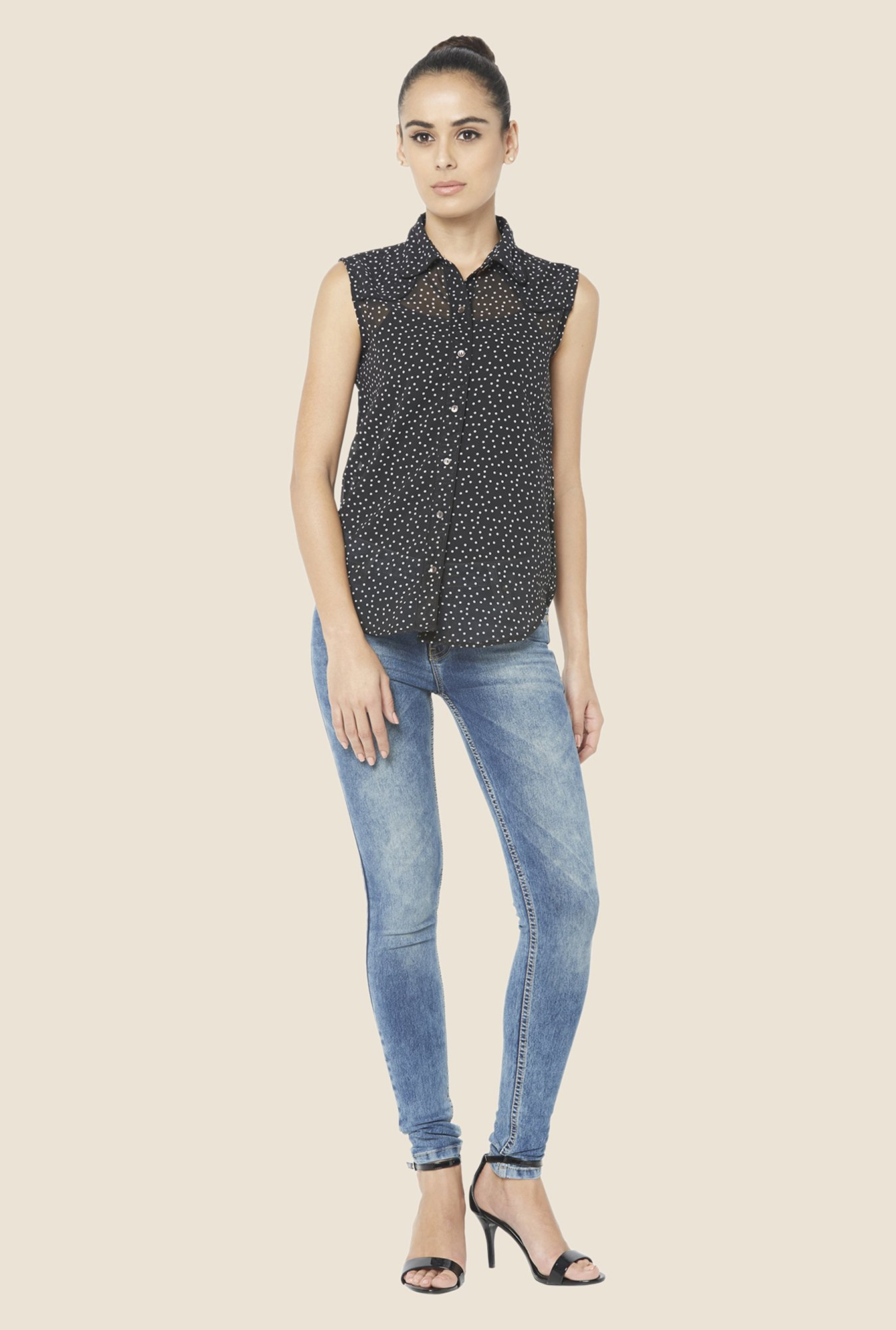 Globus Black Polka Dot Shirt