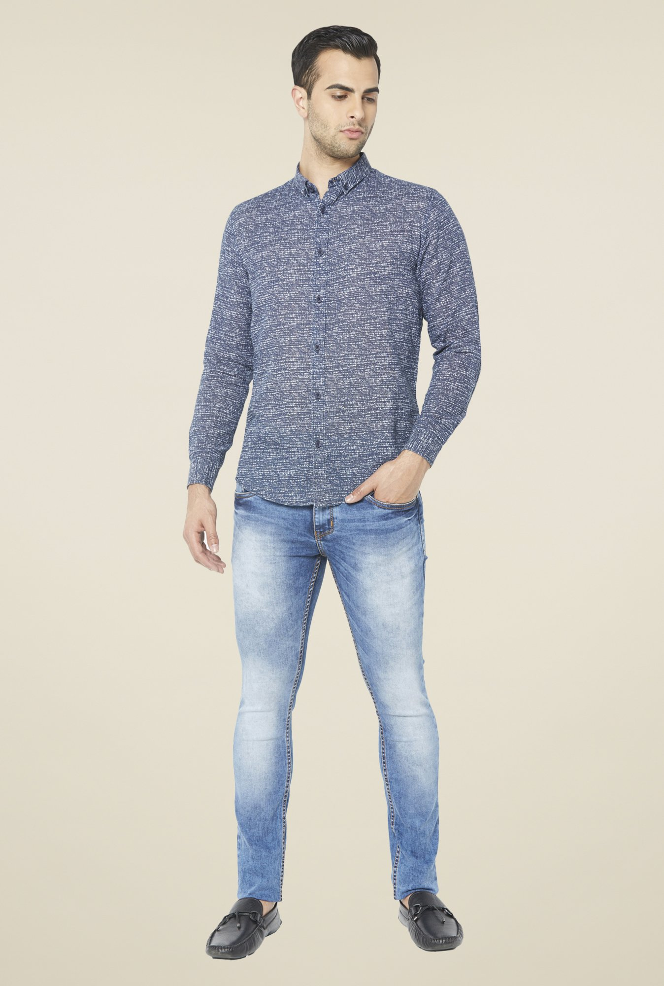 Globus Blue Printed Shirt
