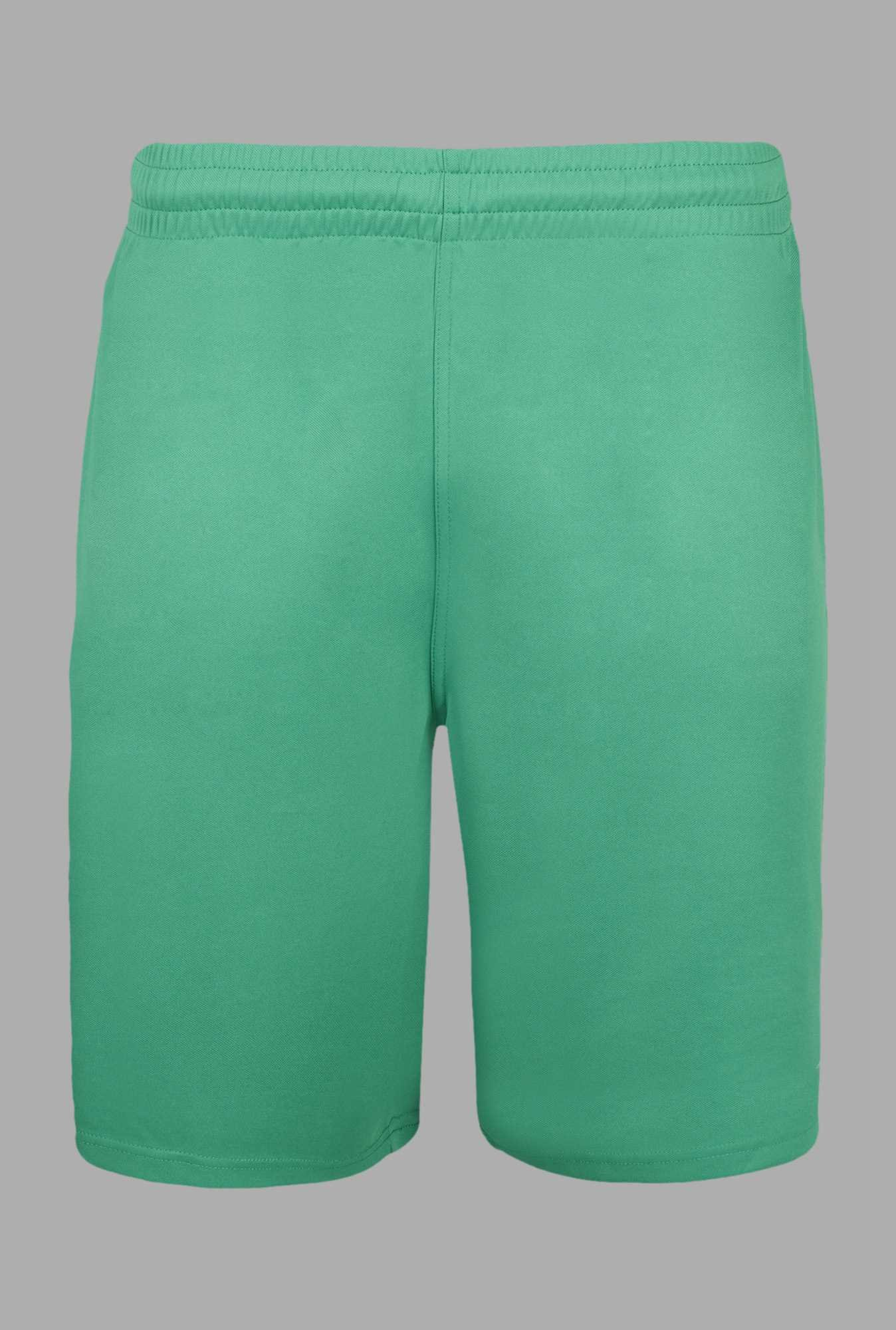 Team Quest Green Solid Football Shorts