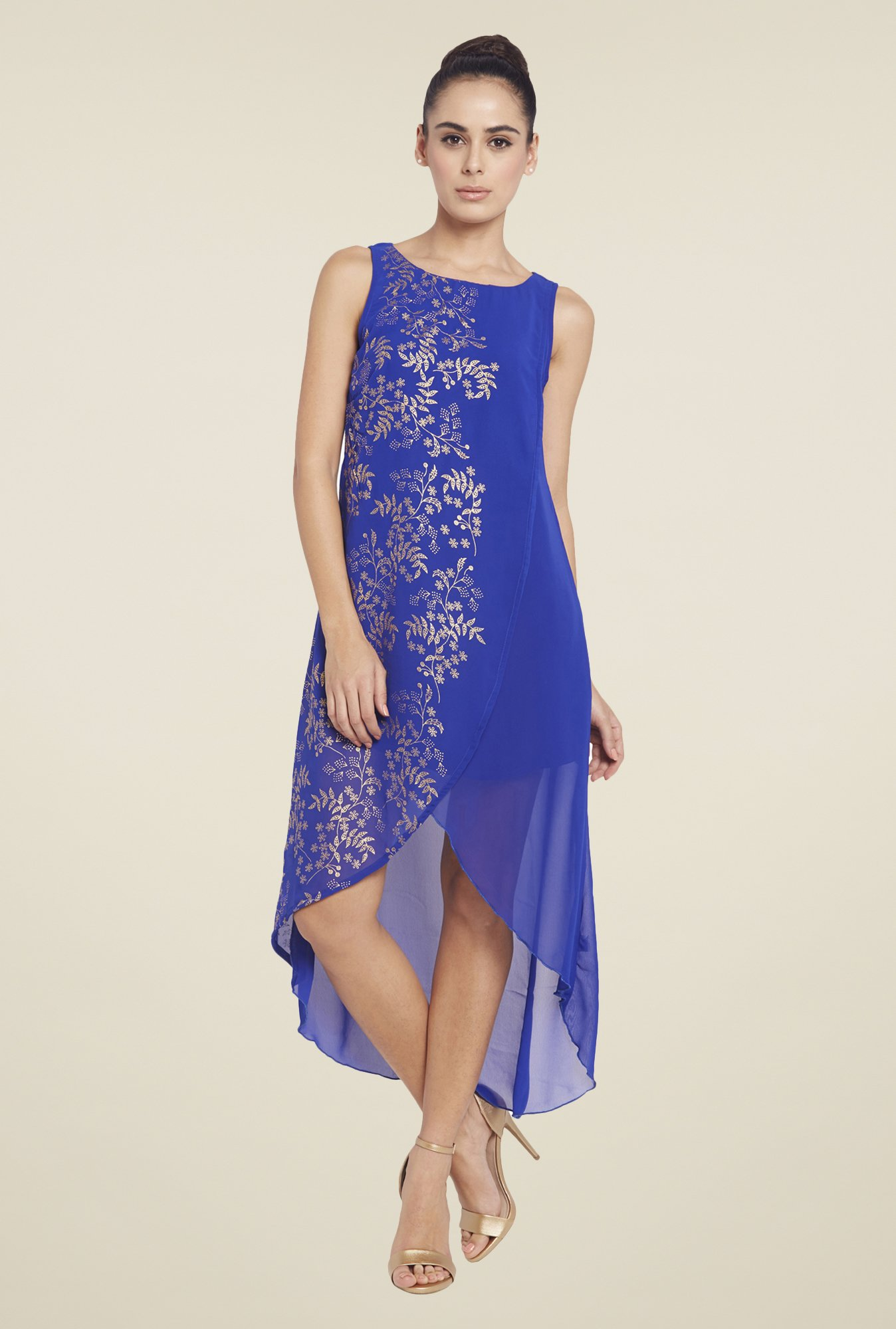 Globus Blue High Low Dress