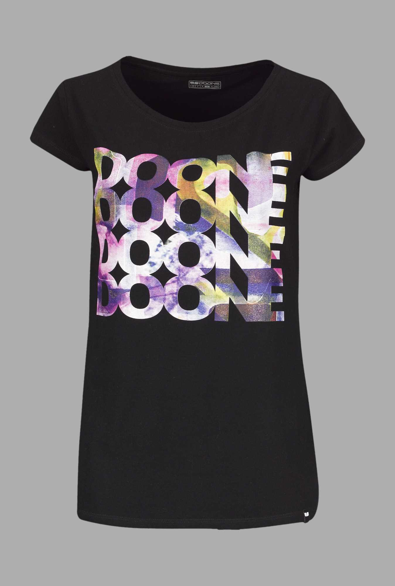 buy doone black printed training t shirt online at best