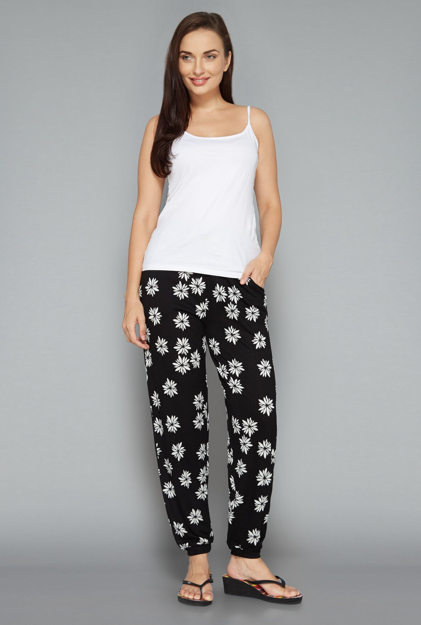 Intima by Westside Black Floral Pyjamas