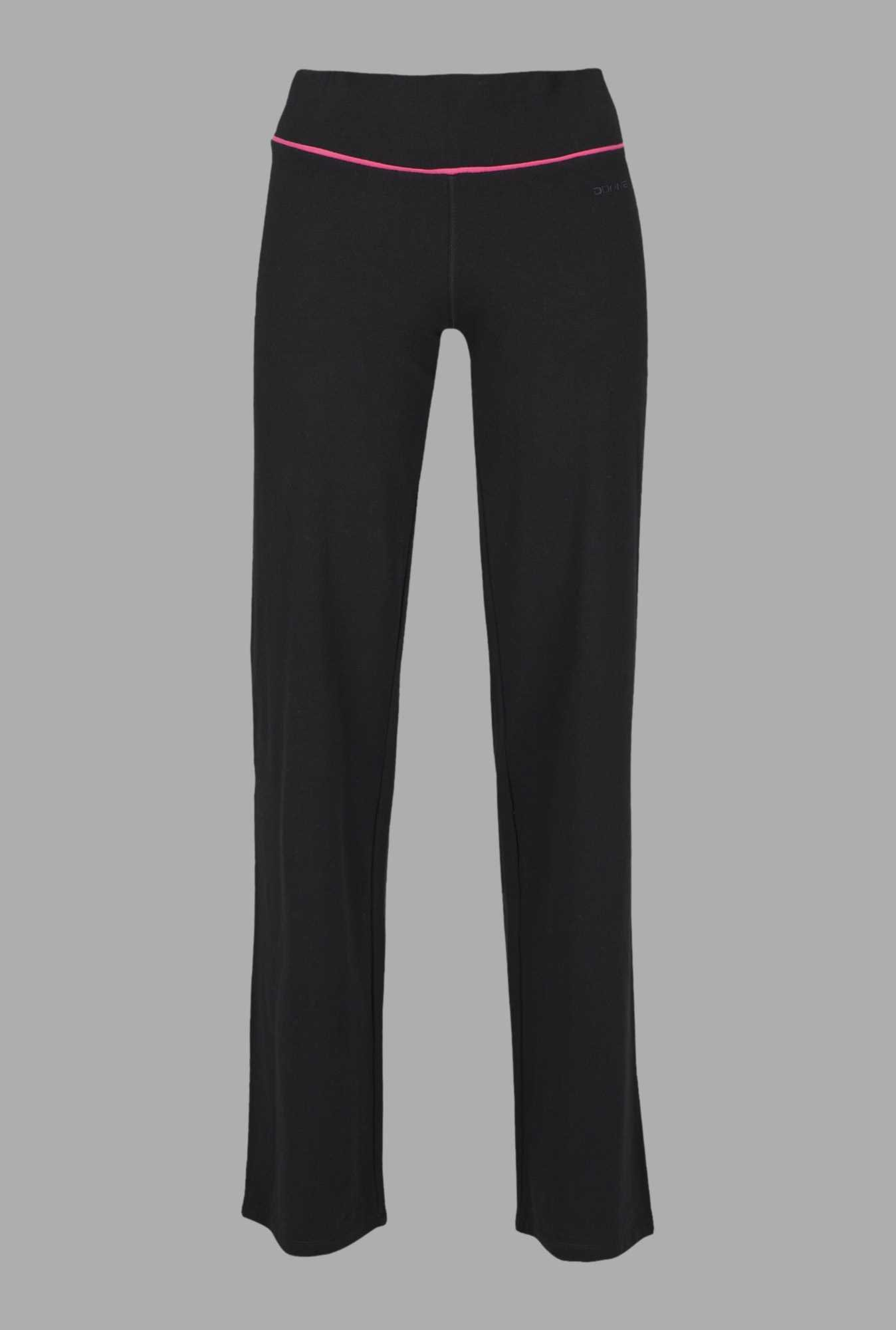 Doone Black Solid Training Trackpants