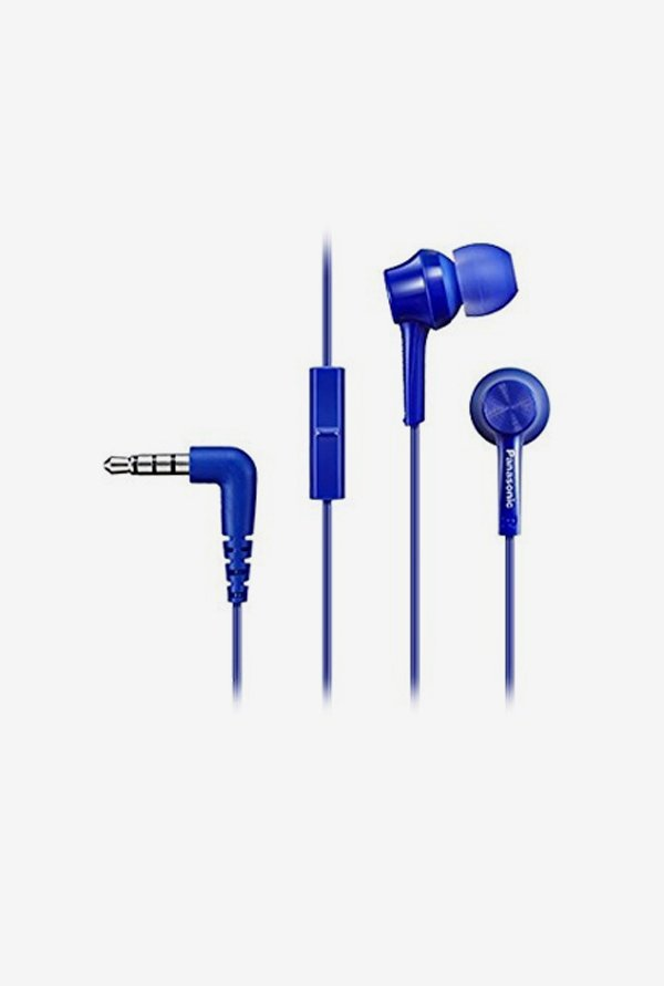 Panasonic RP-TCM105E-A In The Ear Headphones (Blue)