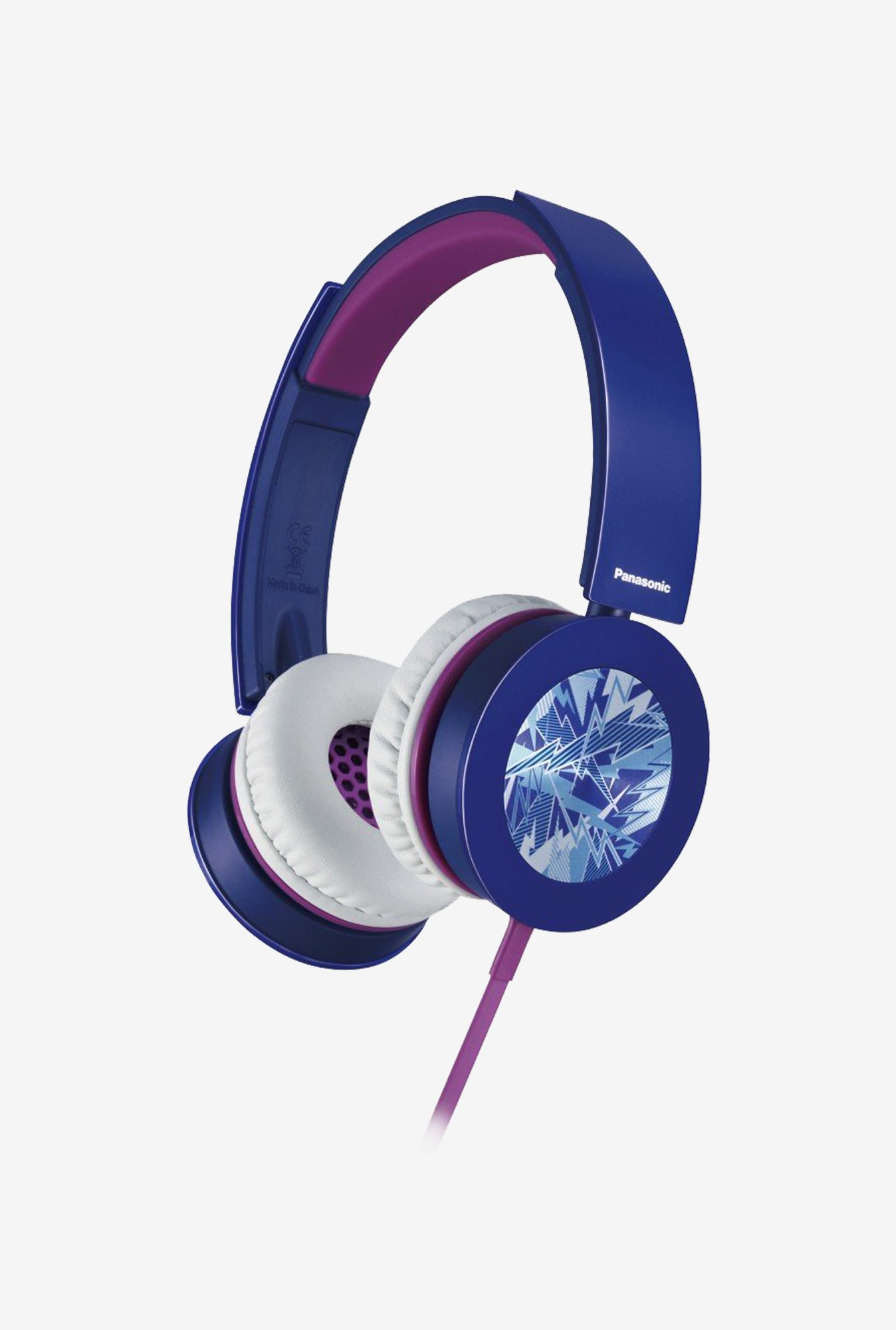 Panasonic RP-HXS400E-A On The Ear Headphones (Blue)