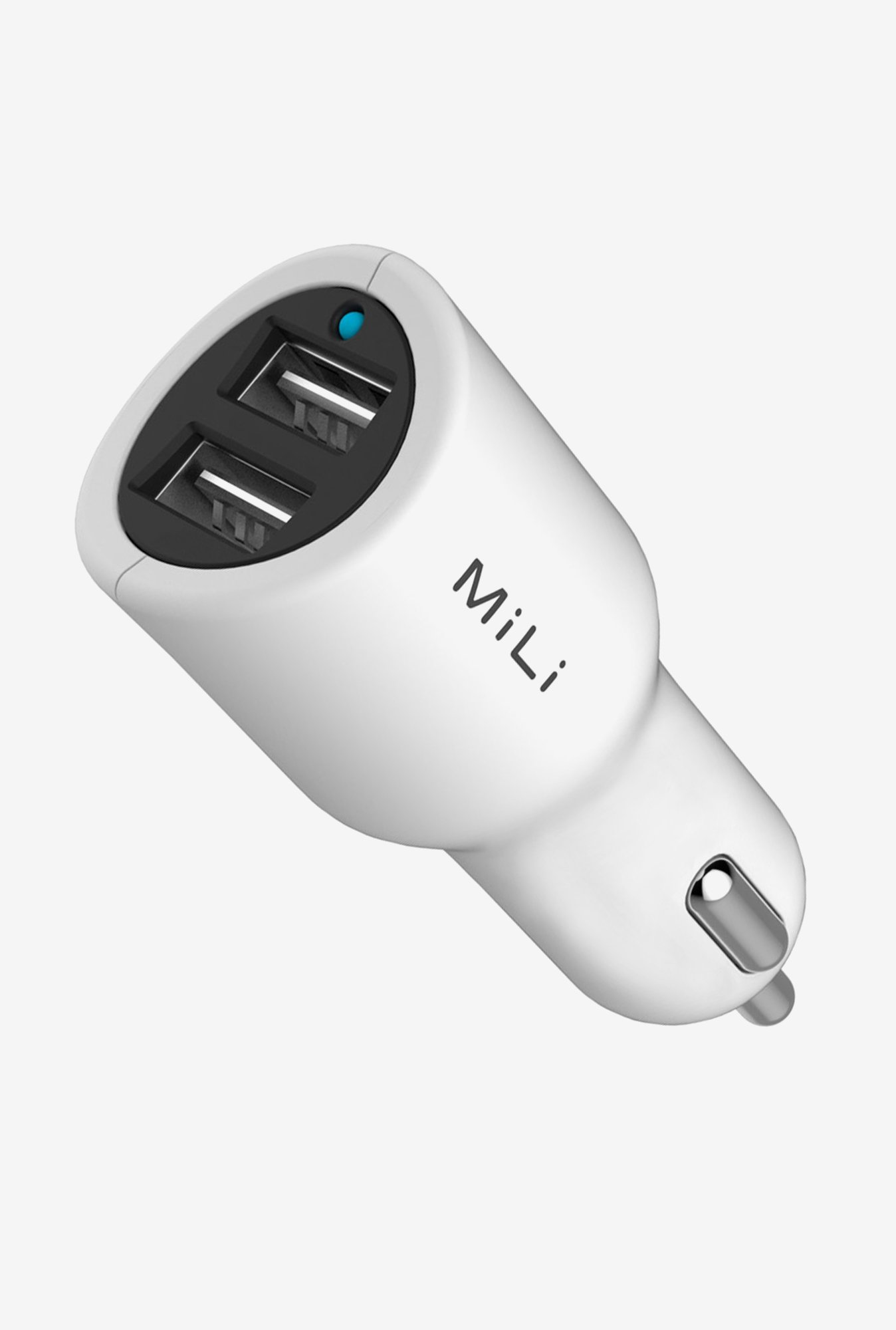 MiLi HC-C24 Car Charger with Lightening Cable (White)