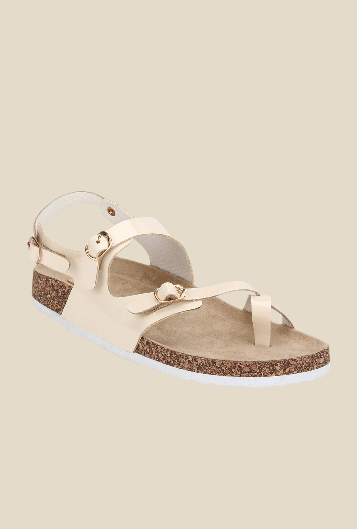 Yepme Beige Back Strap Sandals