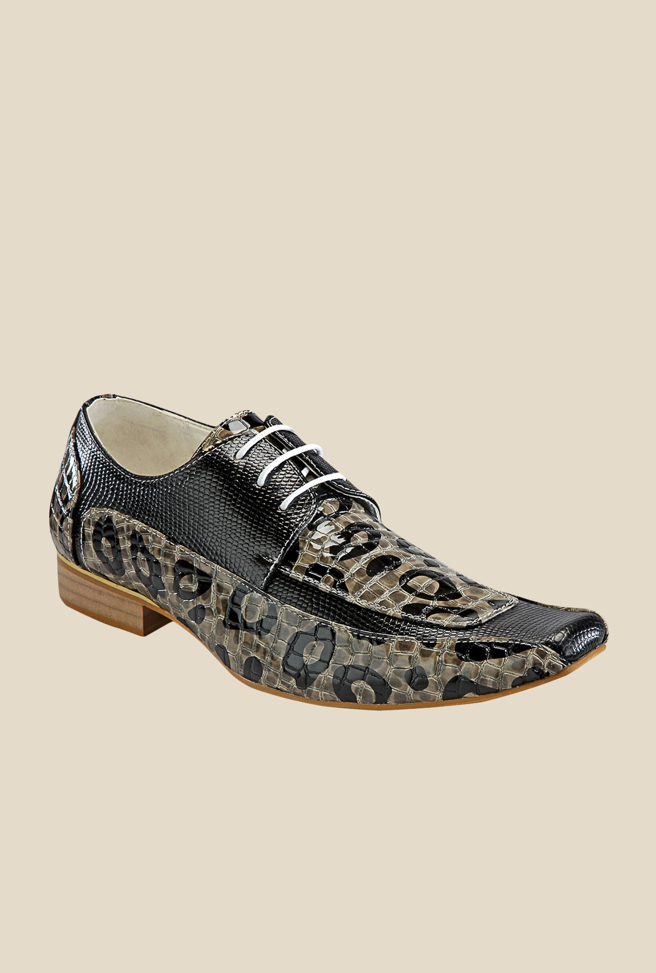 Yepme Black & Beige Derby Shoes