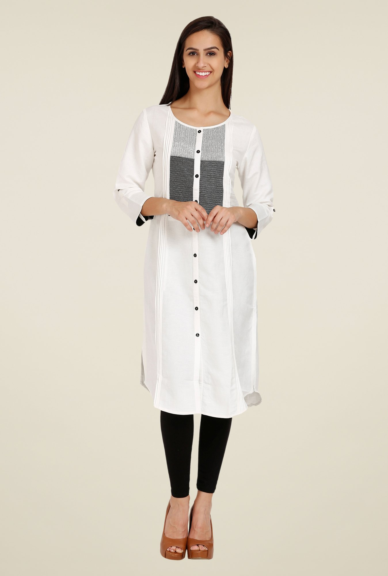 Forever Fashion White Printed Tunic