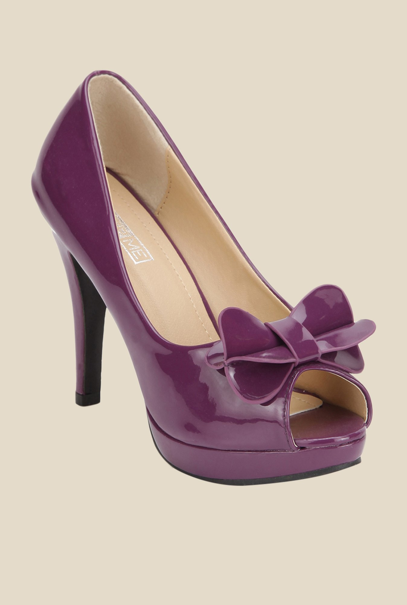 Yepme Purple Peeptoe Stilettos