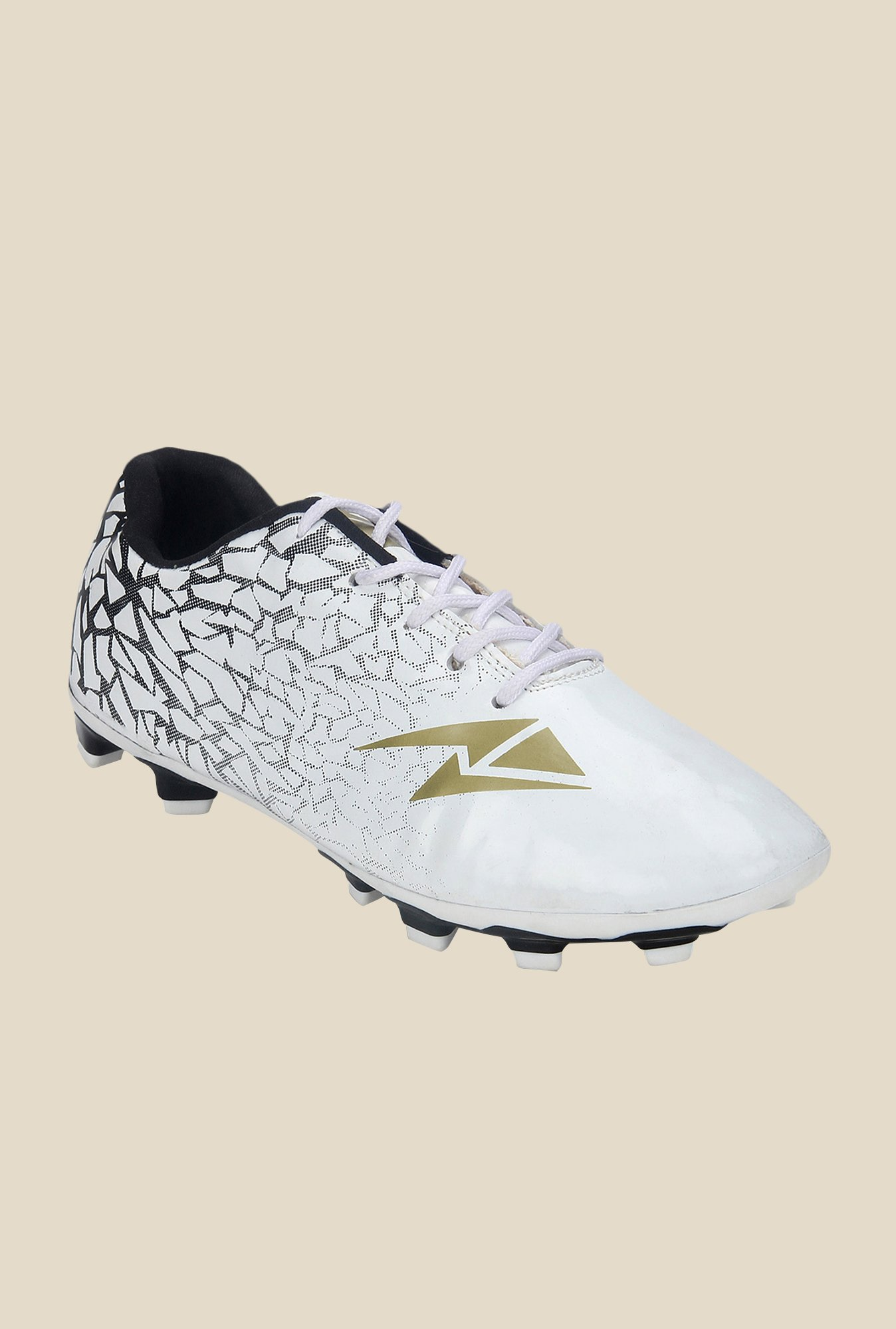 Yepme White & Black Football Shoes