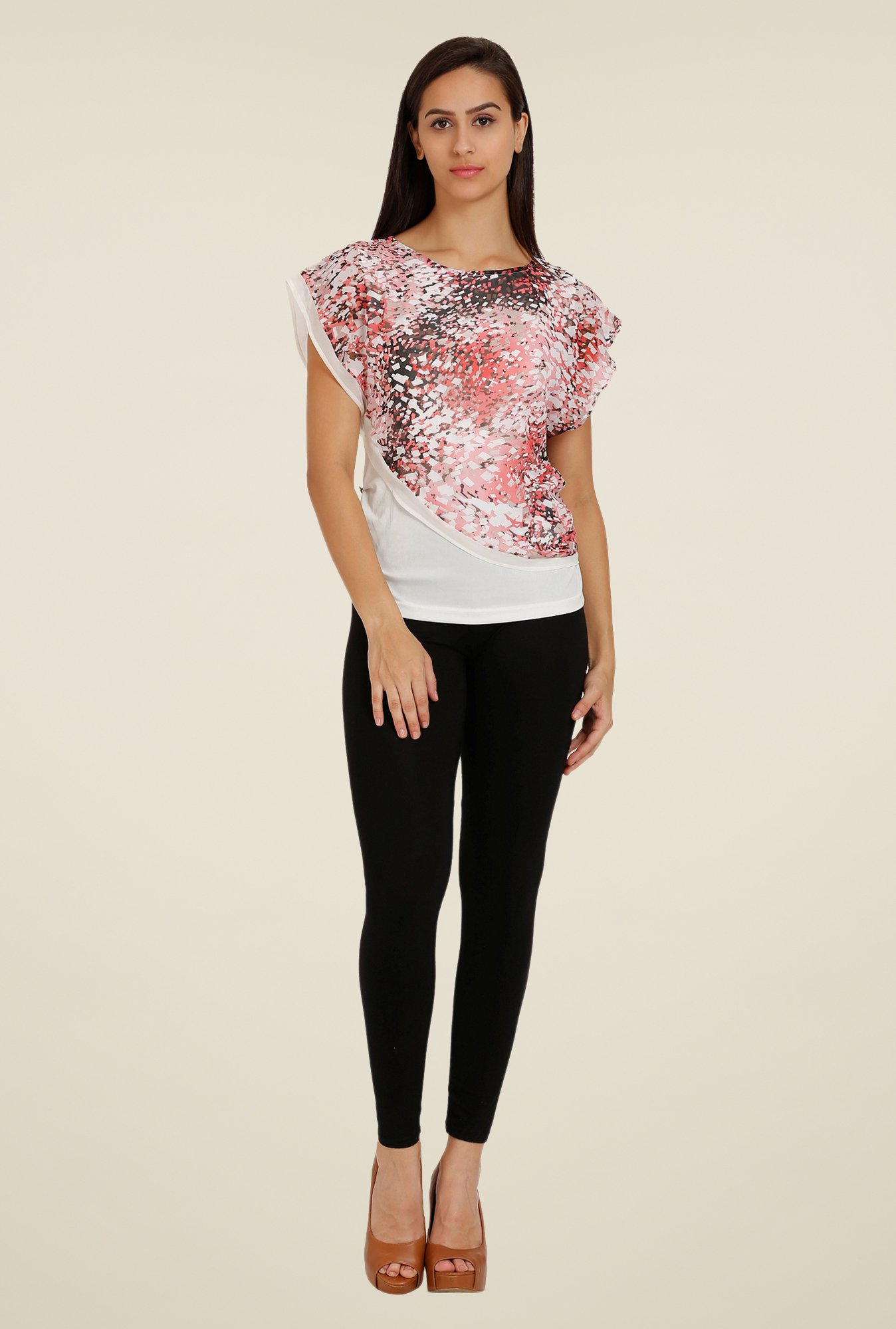 Forever Fashion Pink Printed Blouse