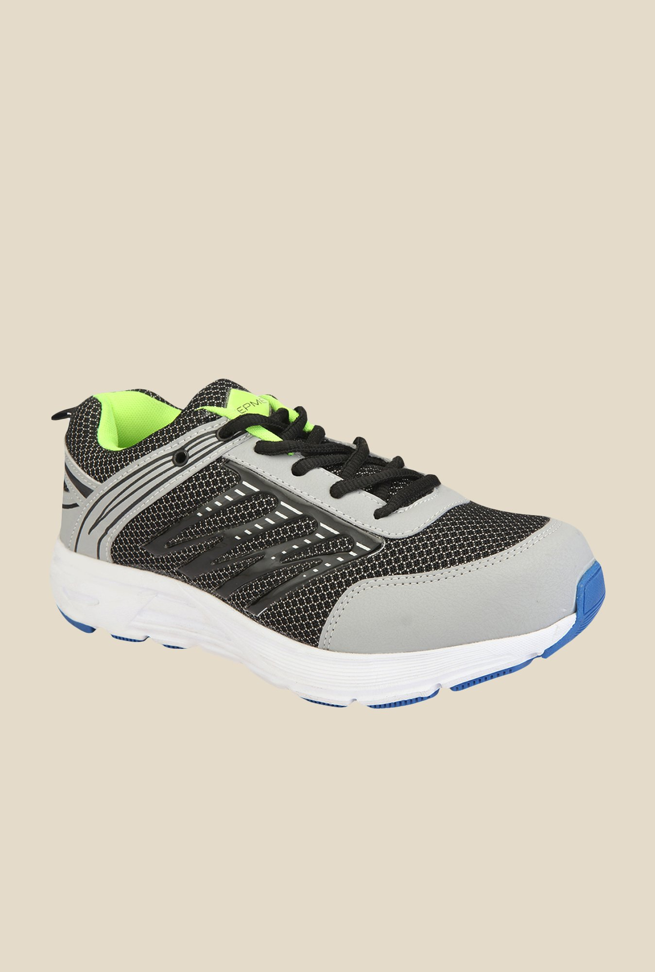 Yepme Black & Grey Running Shoes