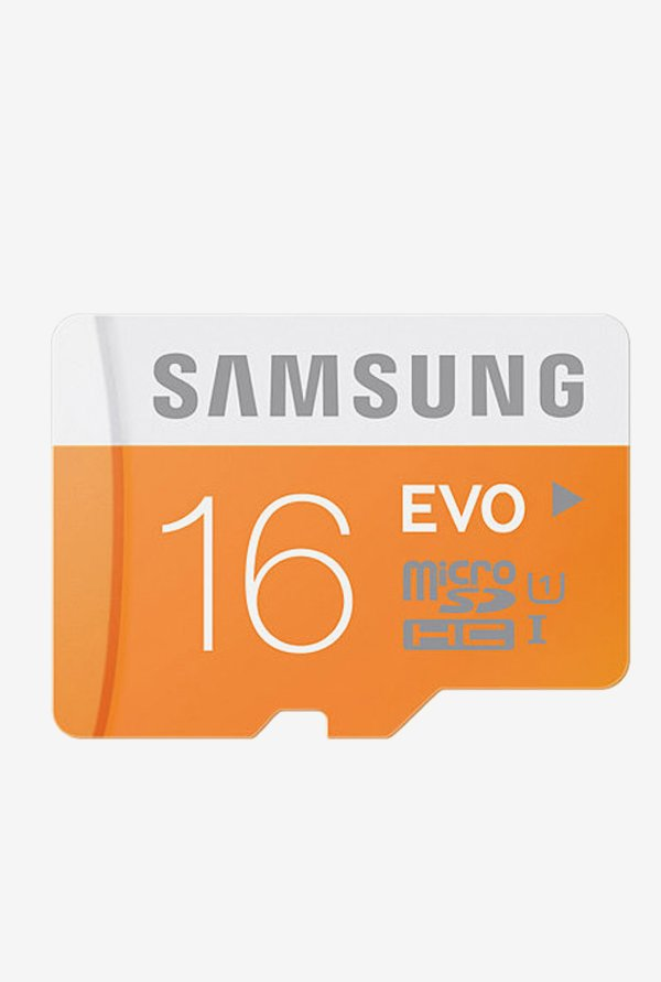 Samsung EVO 16 GB Class 10 Micro SDHC Memory Card (Orange)