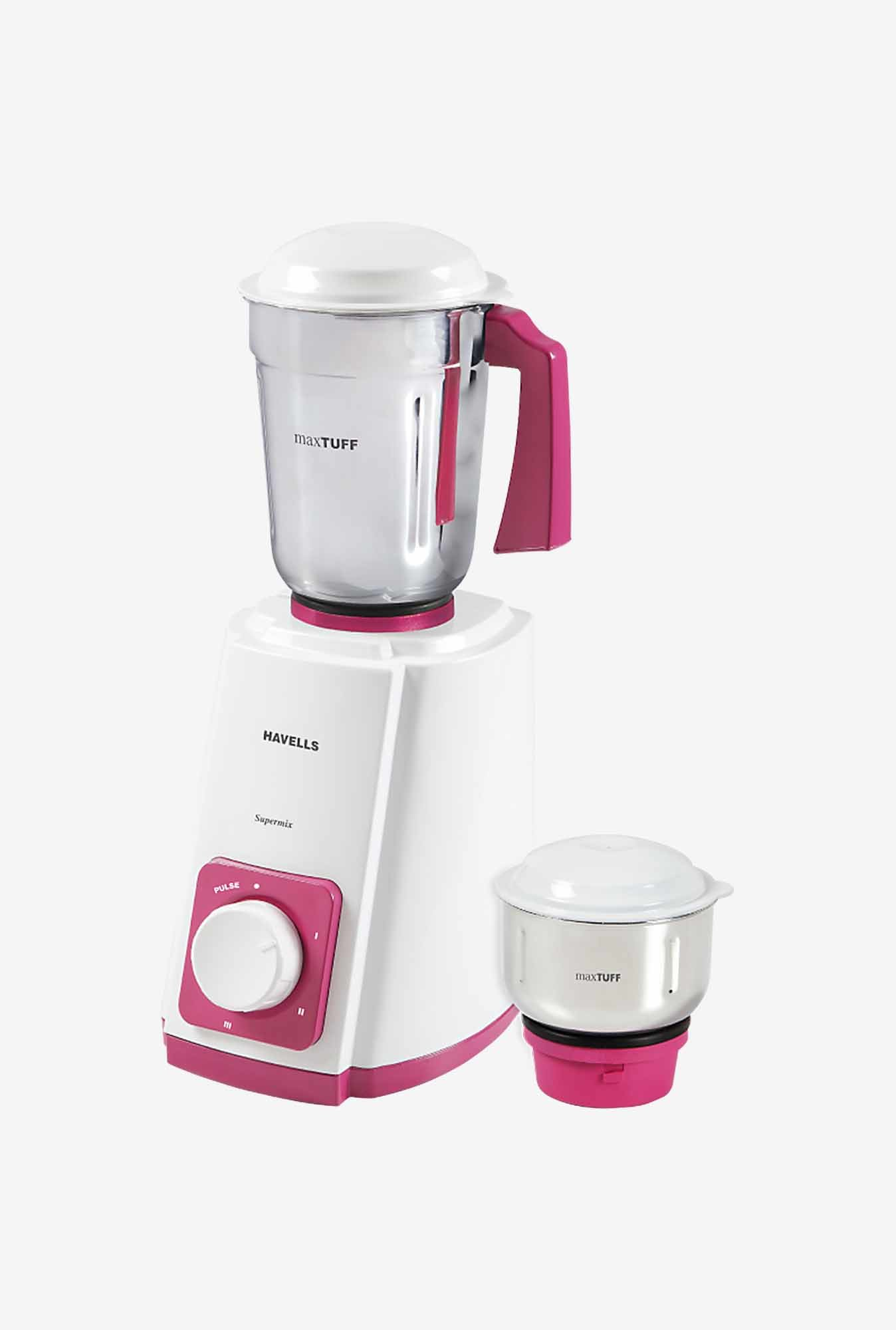 Havells SuperMix II 500 Watt 2 Jar Mixer Grinder (Pink)