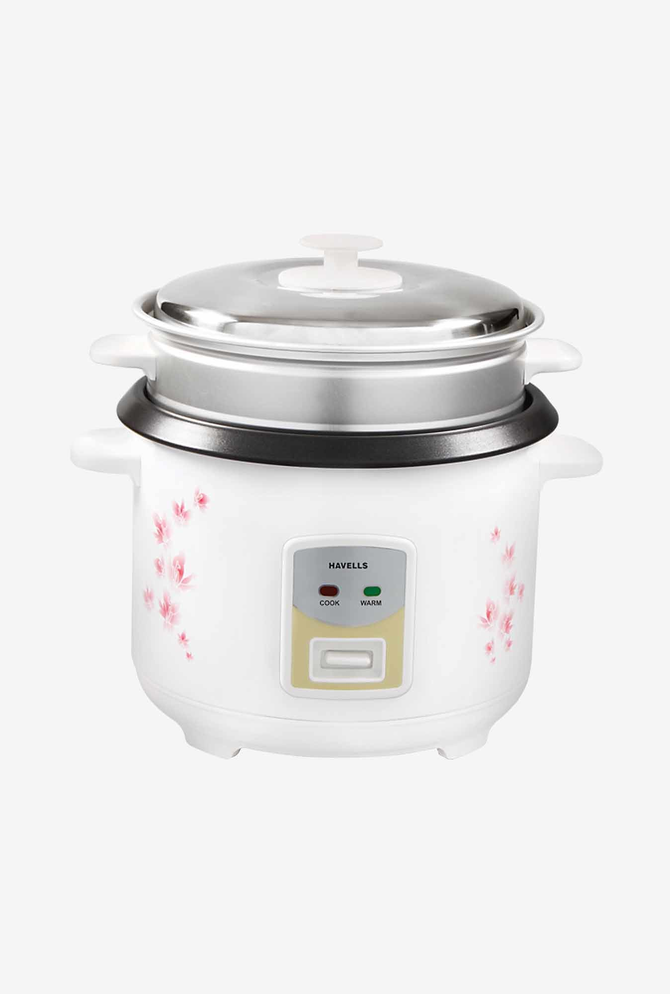 Havells GHCRCAOW070 1.8 L Electric Cooker (White)