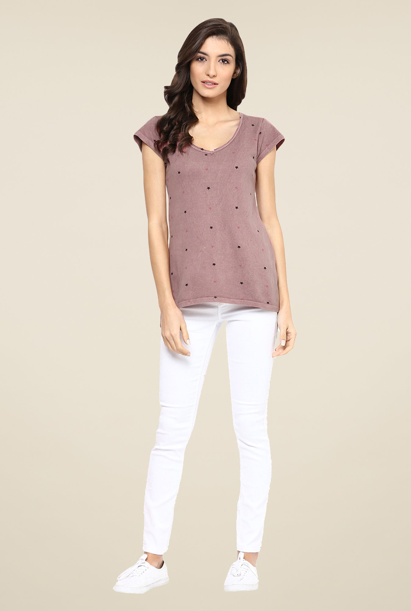 Yepme Melinda Brown Star Print Top