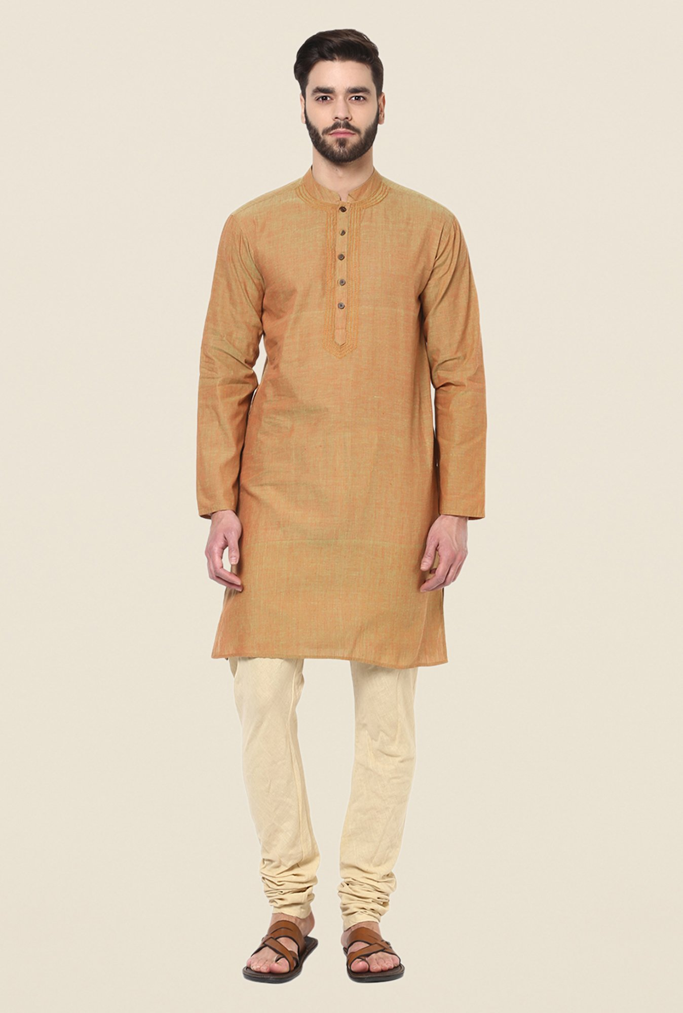 Yepme Brown Kance Solid Kurta