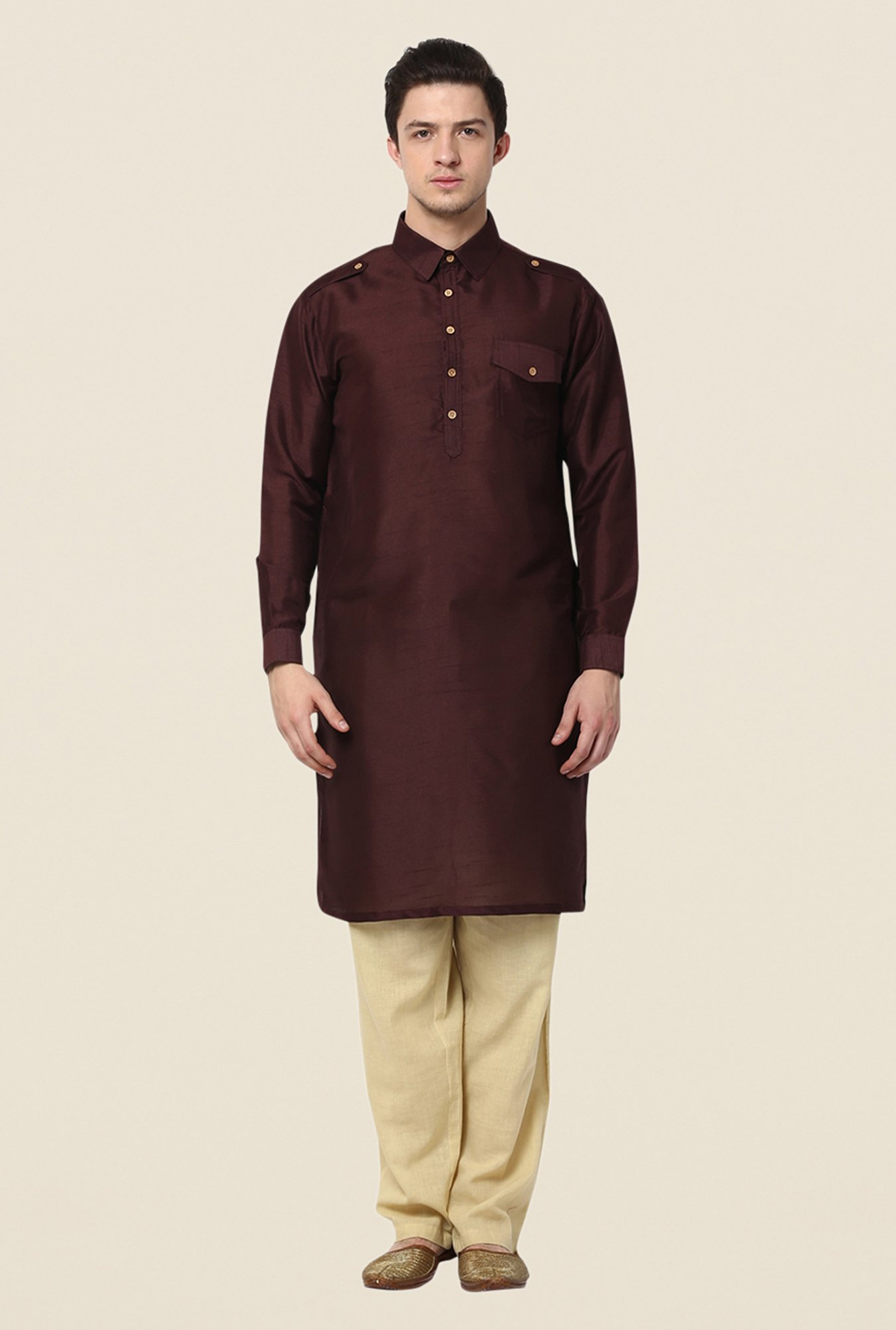 Yepme Dark Brown Rooney Solid Kurta