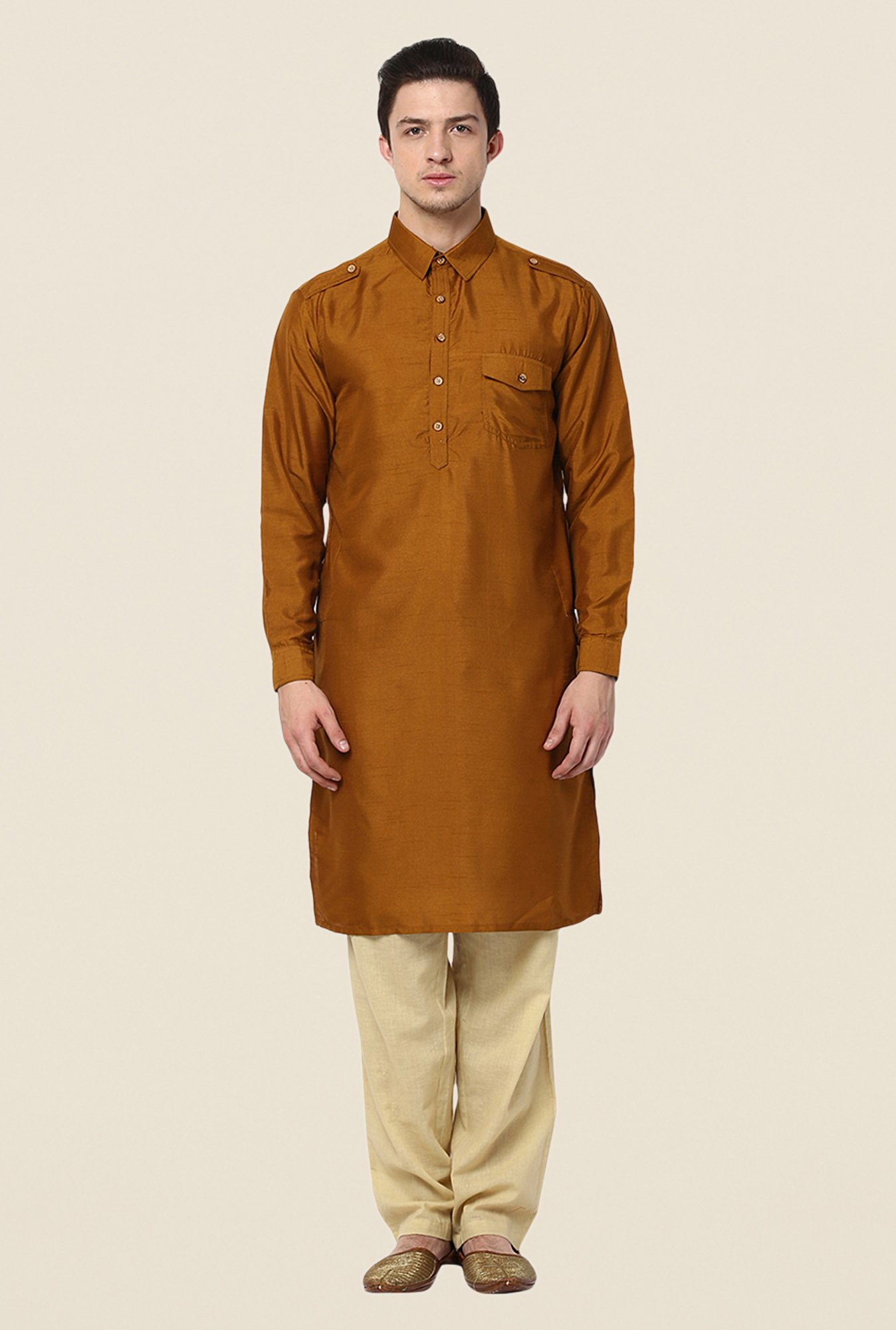 Yepme Brown Rooney Solid Kurta