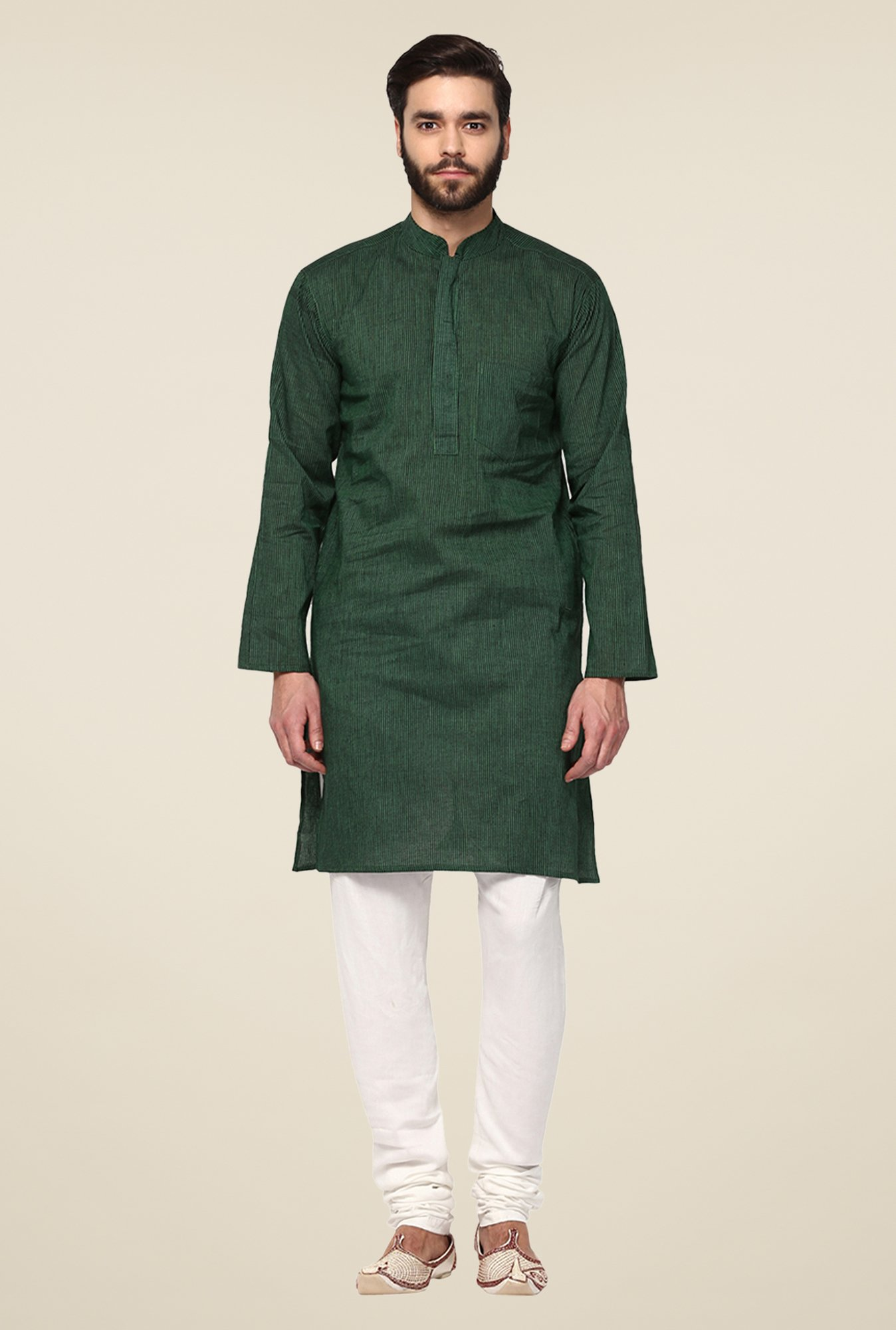 Yepme Green Bruce Striped Kurta
