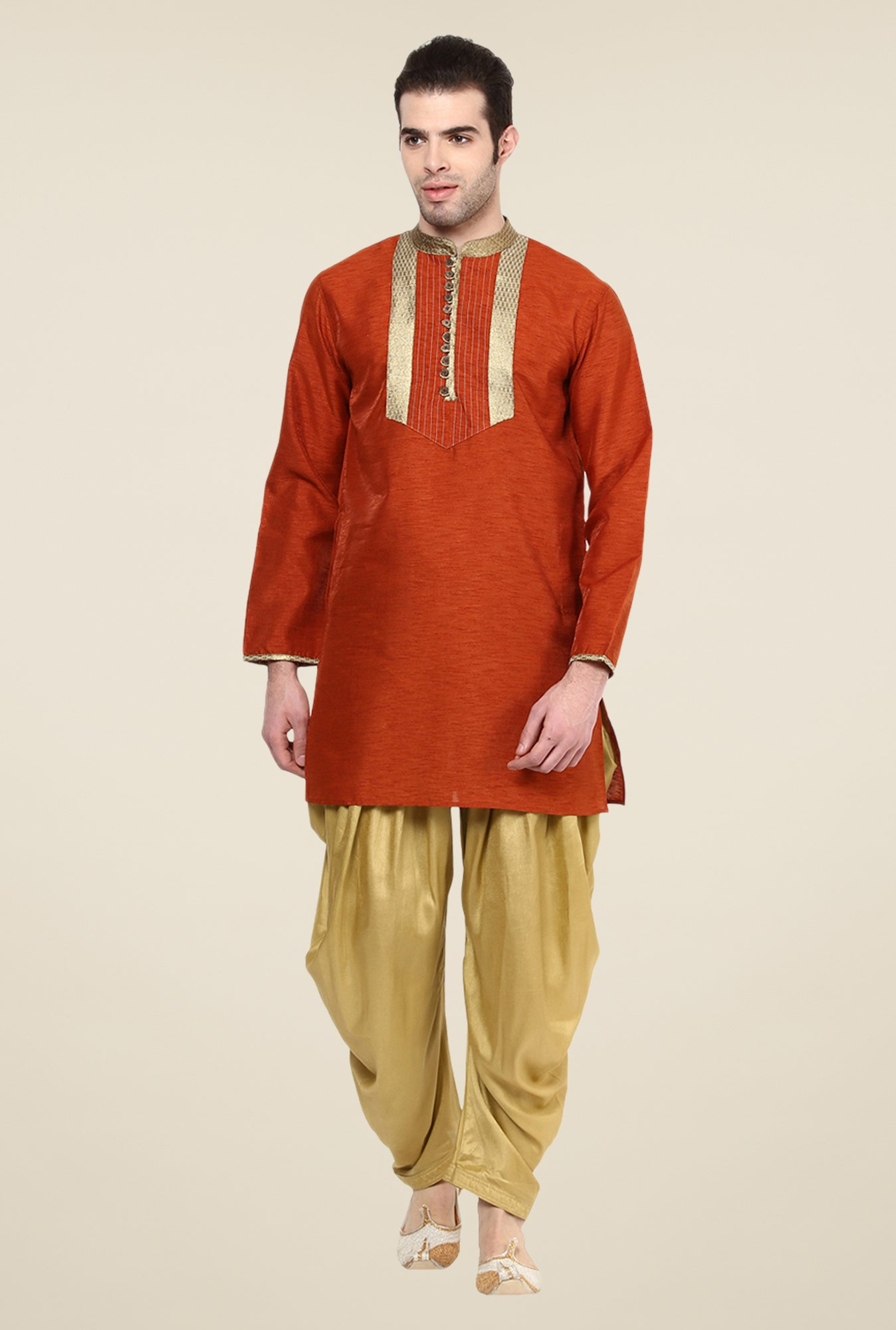 Yepme Brown Frazer Solid Cotton Kurta