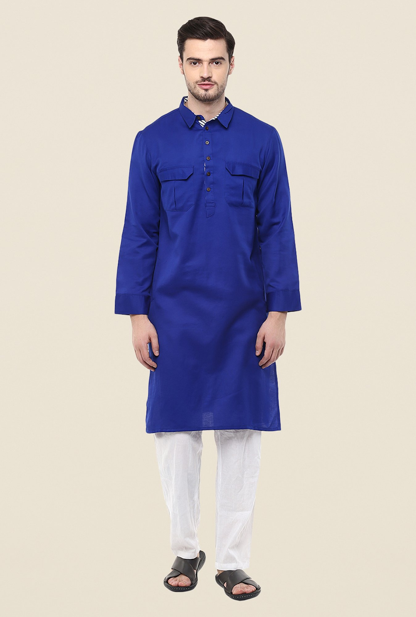 Yepme Blue Ashes Solid Kurta
