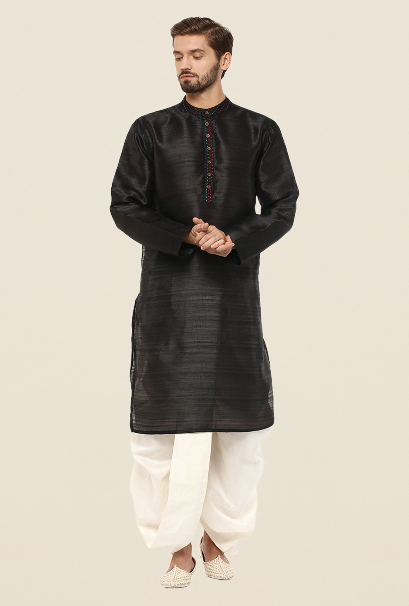 Yepme Black Donald Solid Kurta