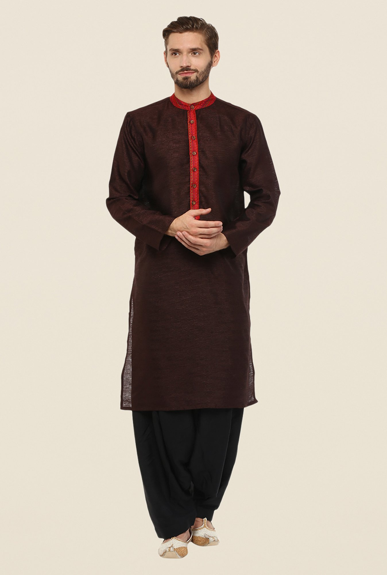 Yepme Brown Donald Solid Kurta