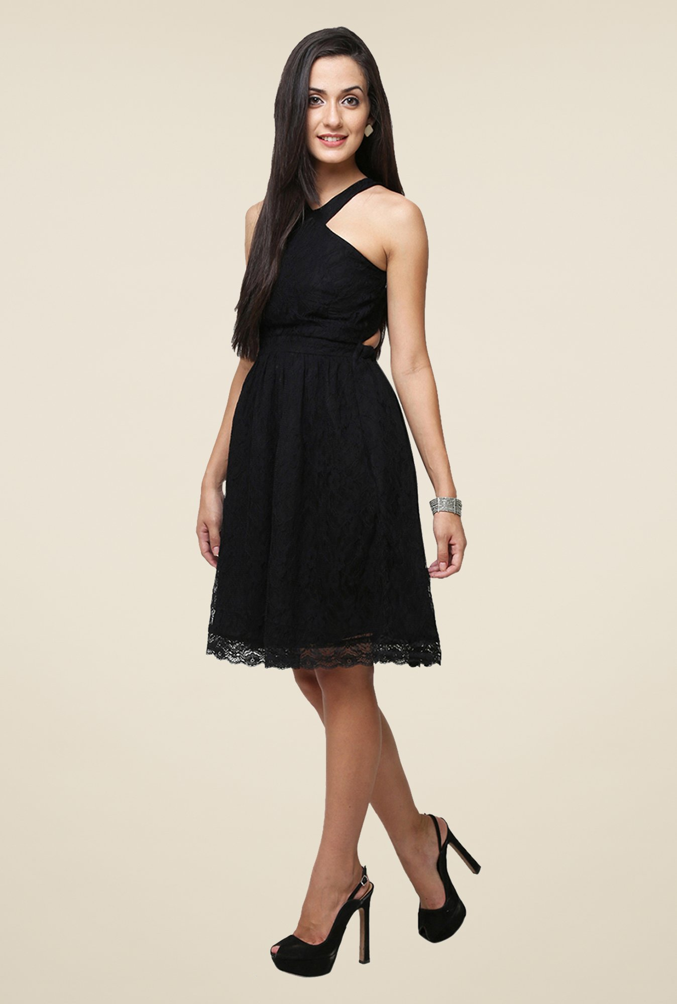 Yepme Black Kylie Lace Dress