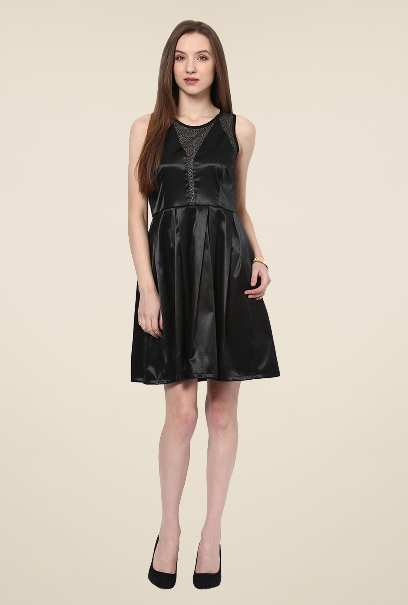 Yepme Black Janet Solid Party Dress
