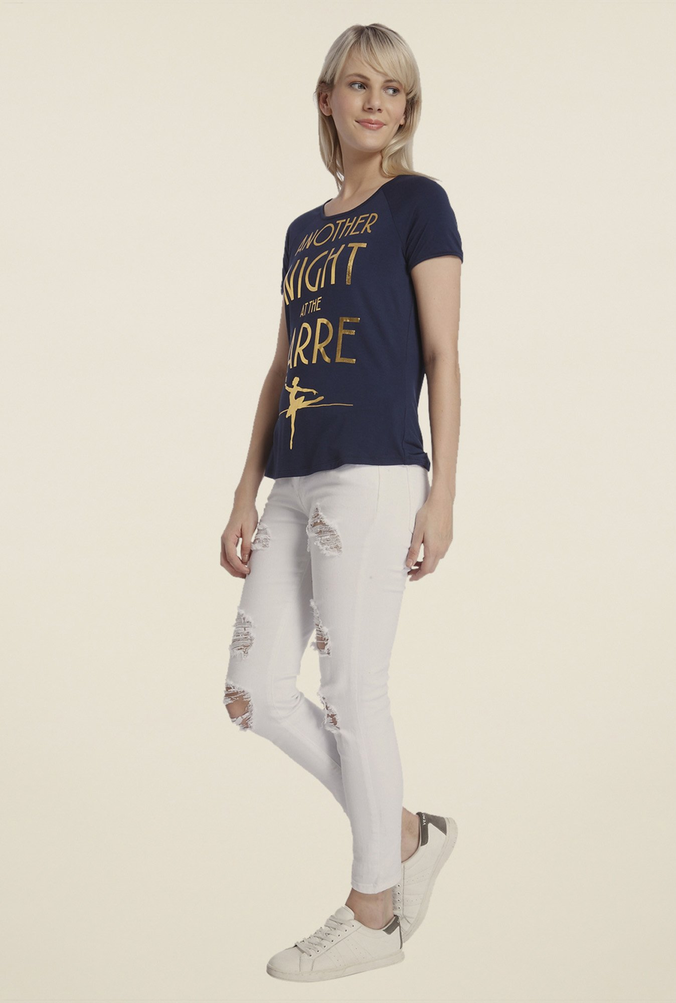 Vero Moda Navy Printed Top