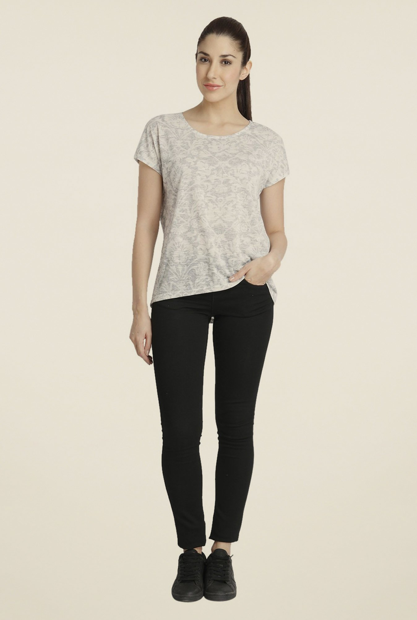 Vero Moda Off-white Printed T-shirt