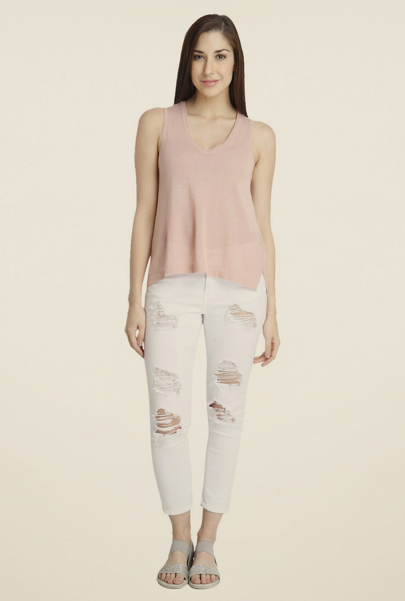 Vero Moda Light Rose Solid Top