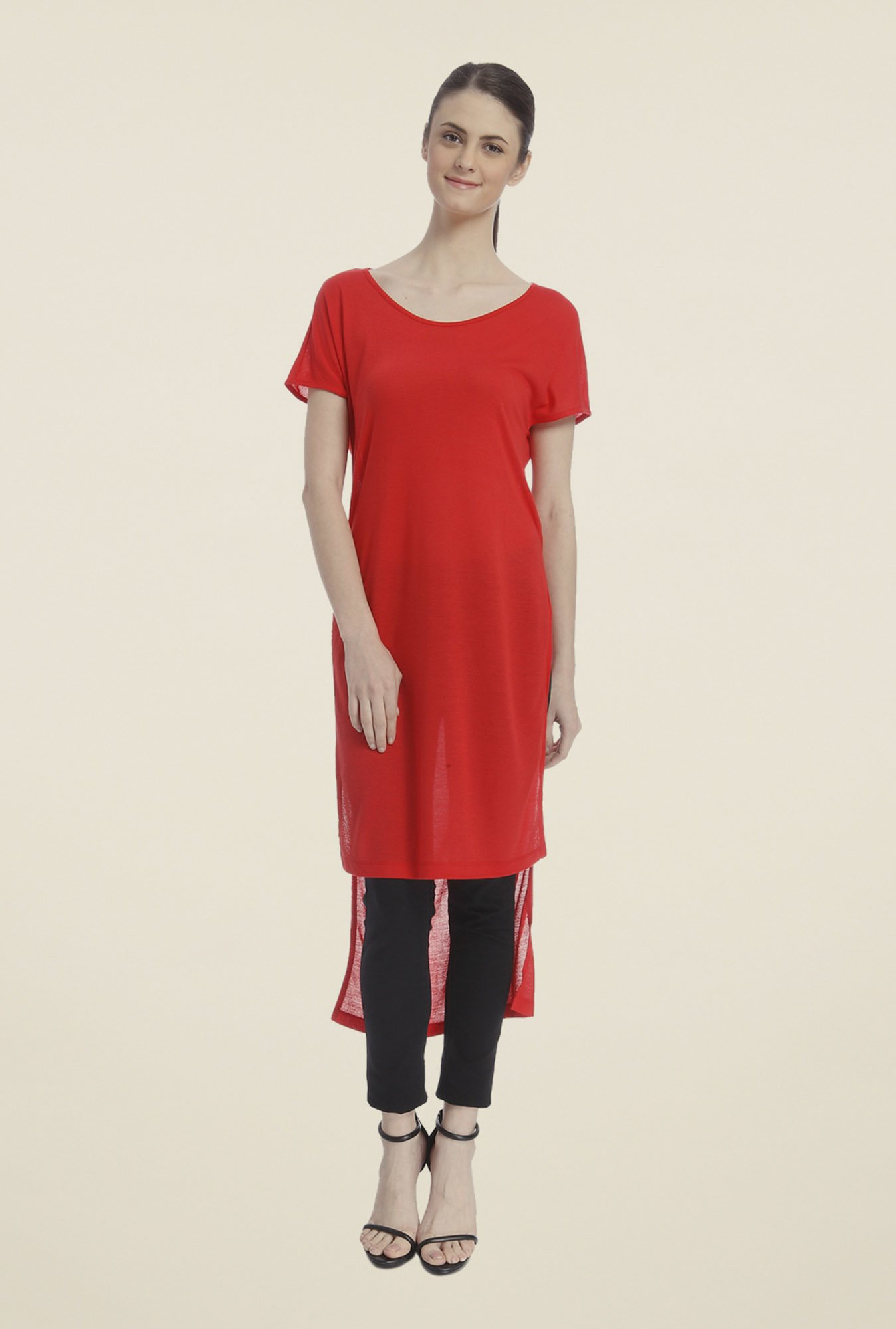 Vero Moda Red Solid Top