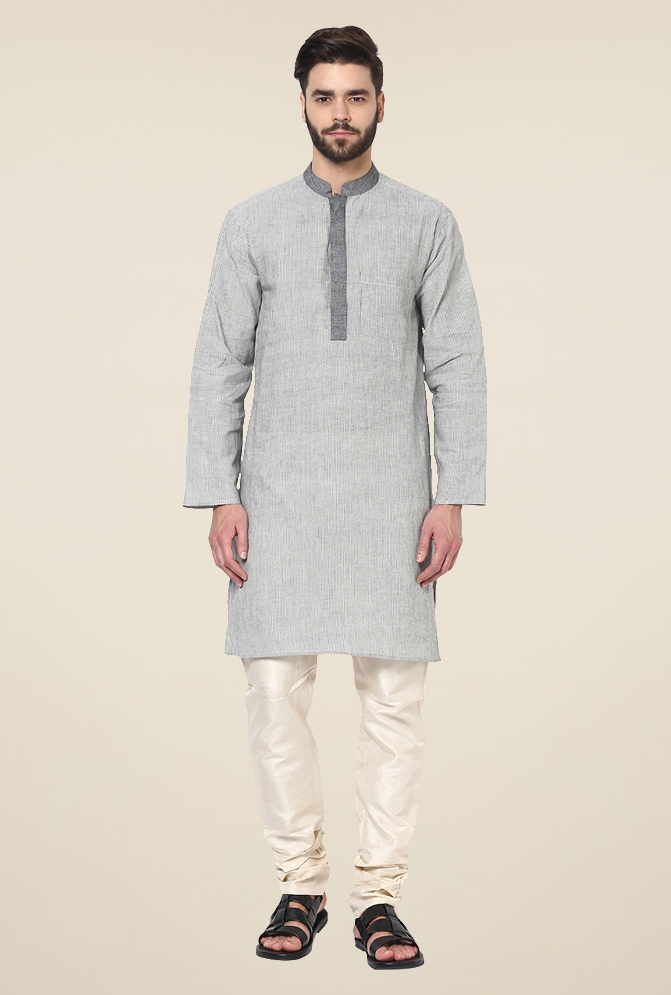 Yepme Bruce Grey Striped Kurta