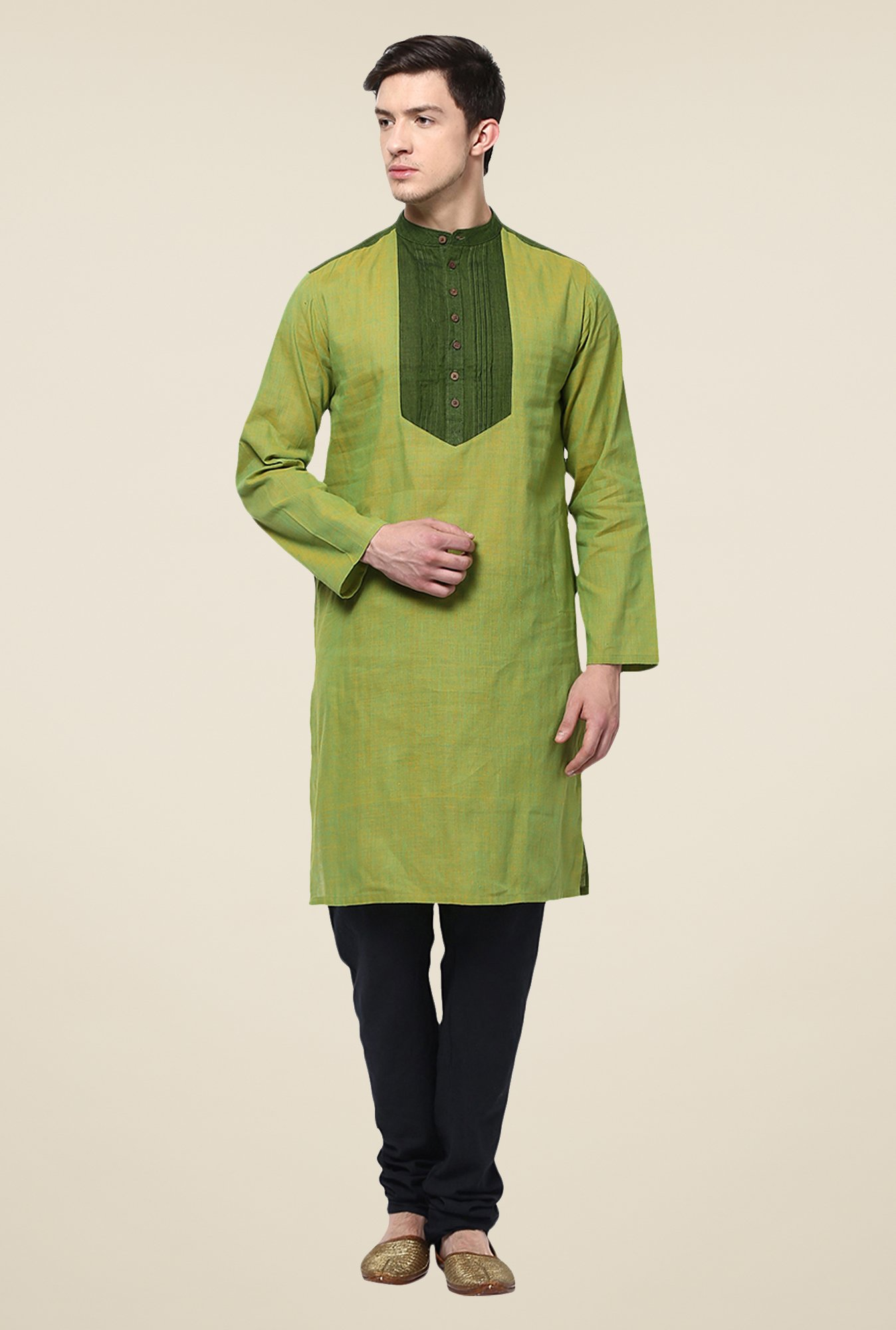 Yepme Louis Green Solid Kurta