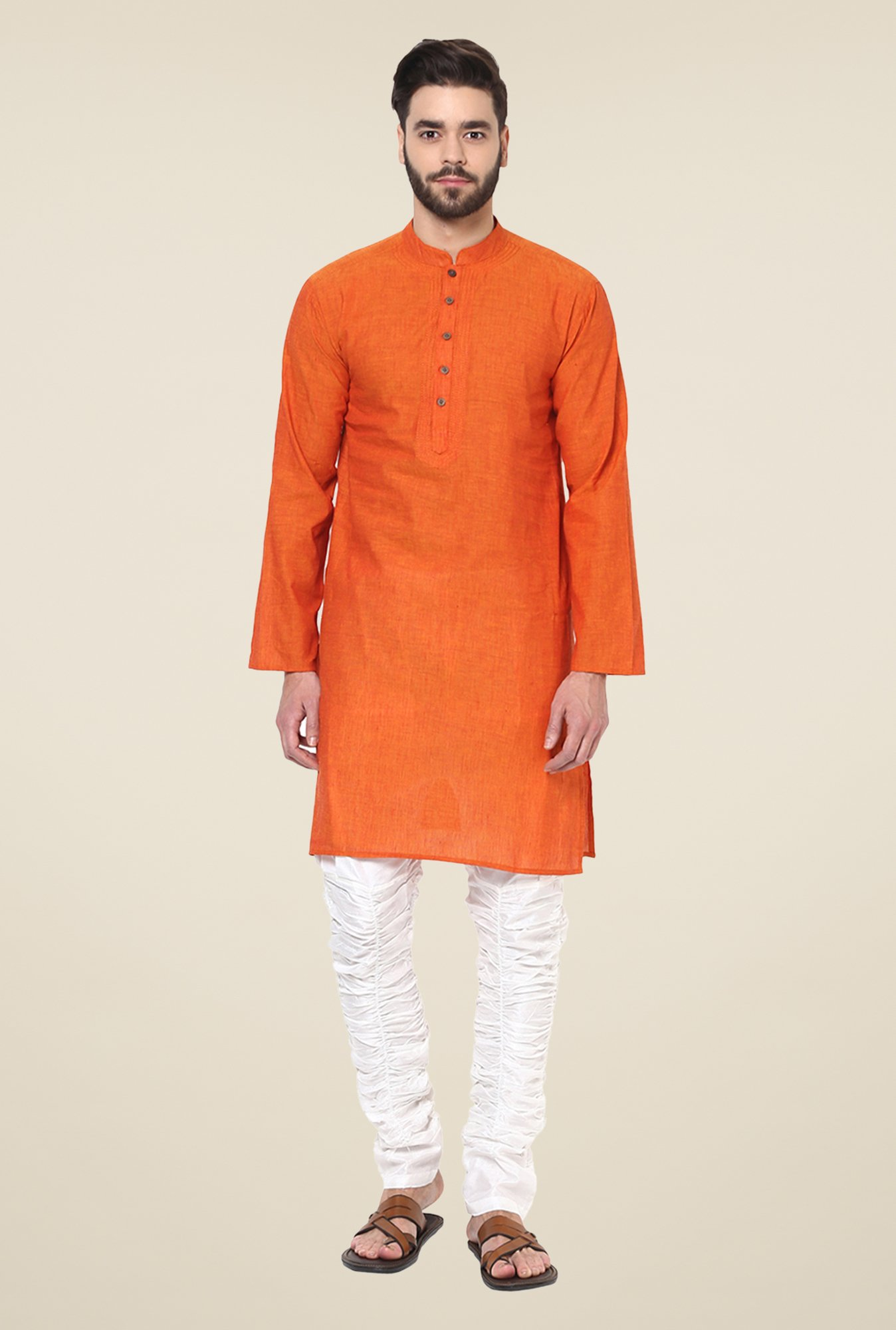 Yepme Kance Orange Solid Kurta