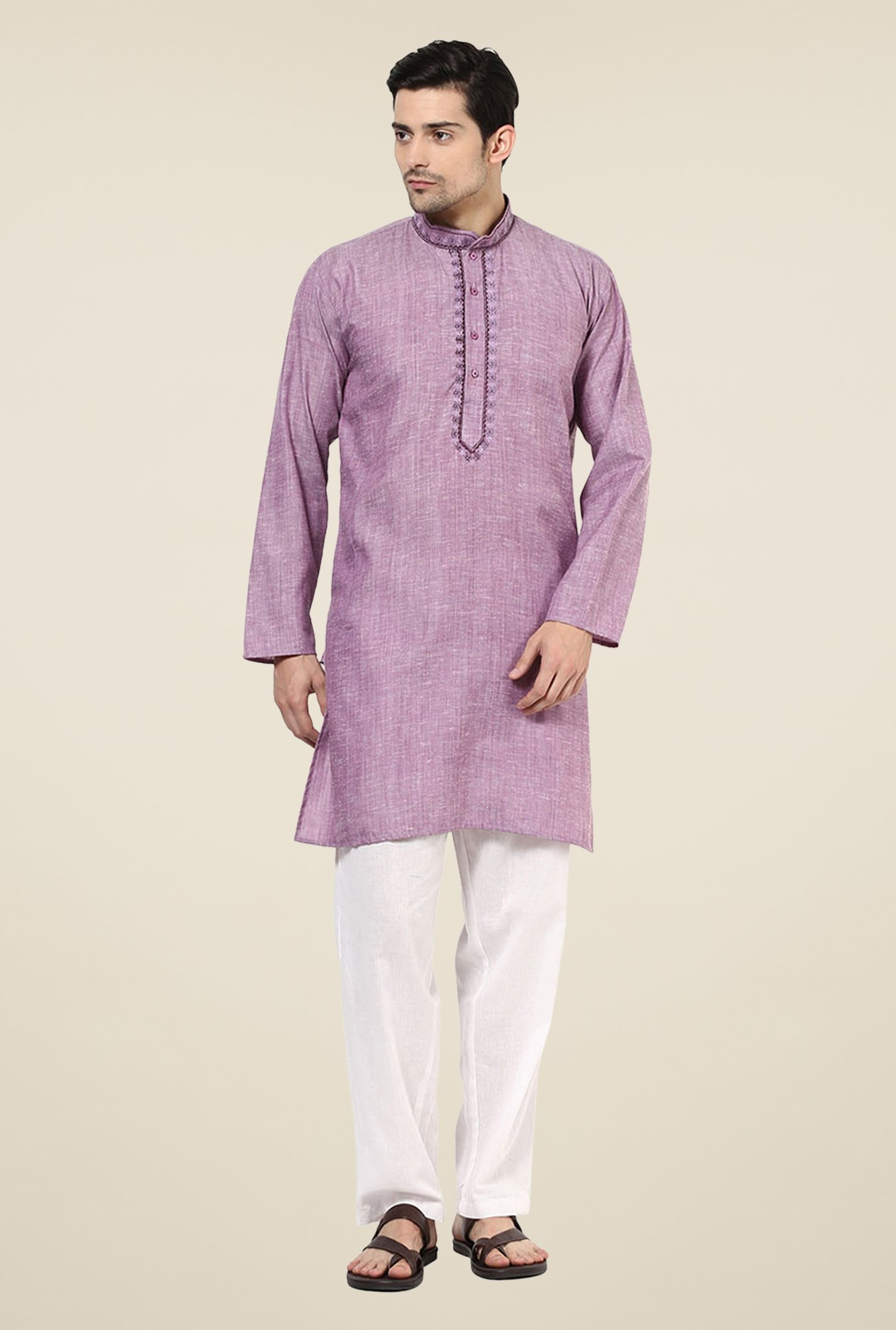 Yepme Kenneth Purple Solid Kurta
