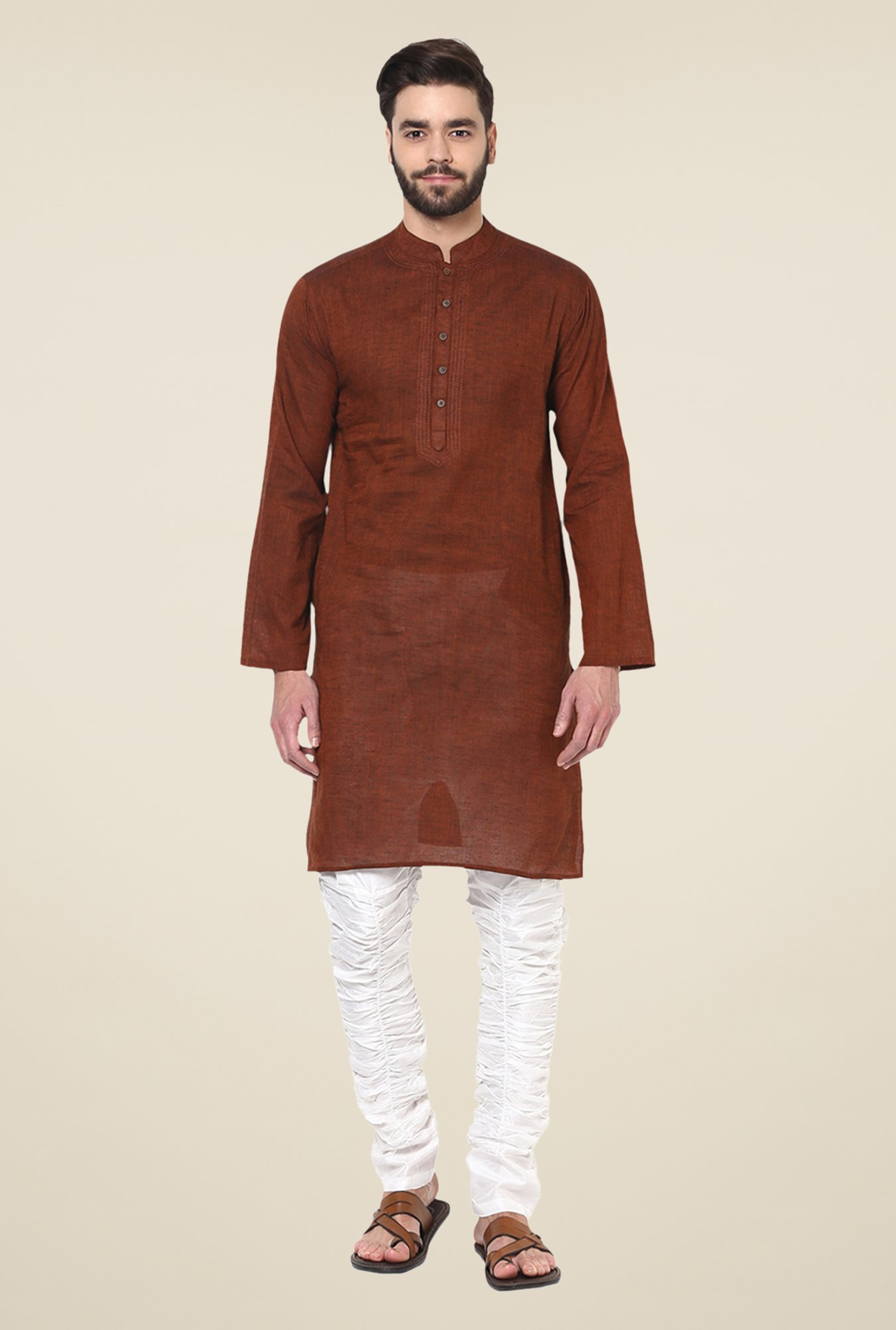 Yepme Kance Brown Solid Kurta