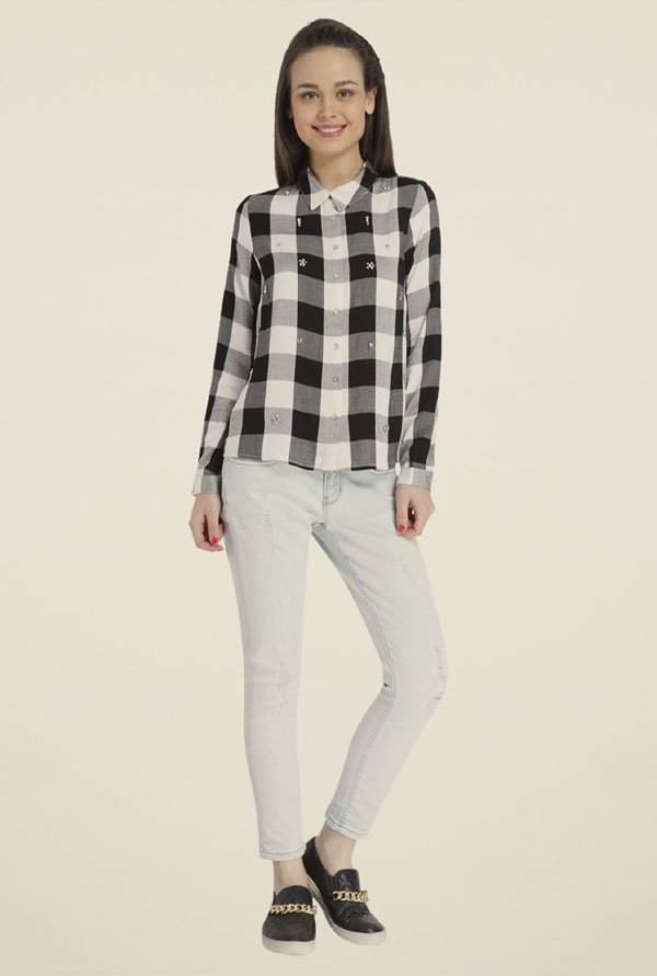 Only Black & White Checks Shirt