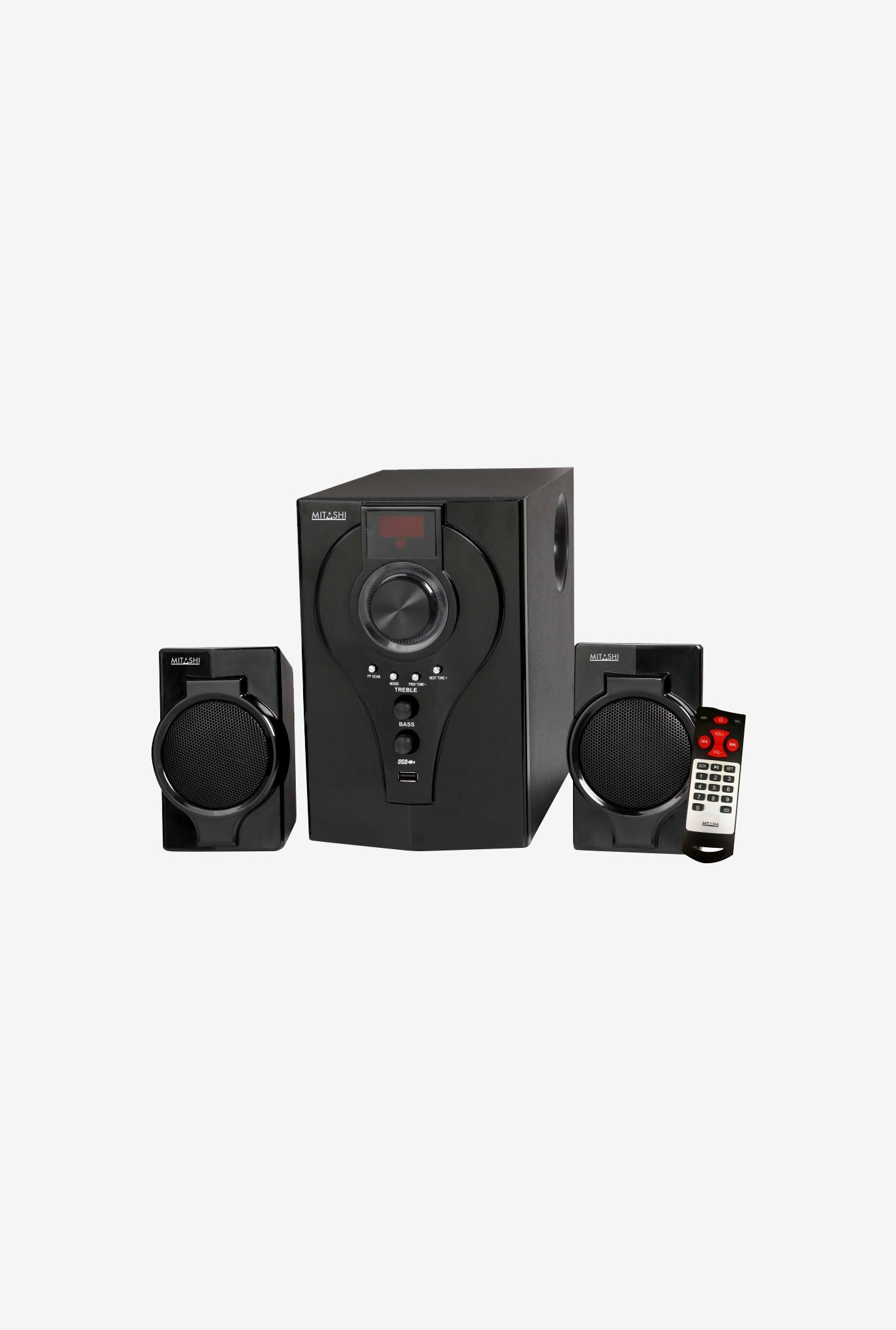 Mitashi HT 2430 FUR 2.1 Computer Speakers (Black)
